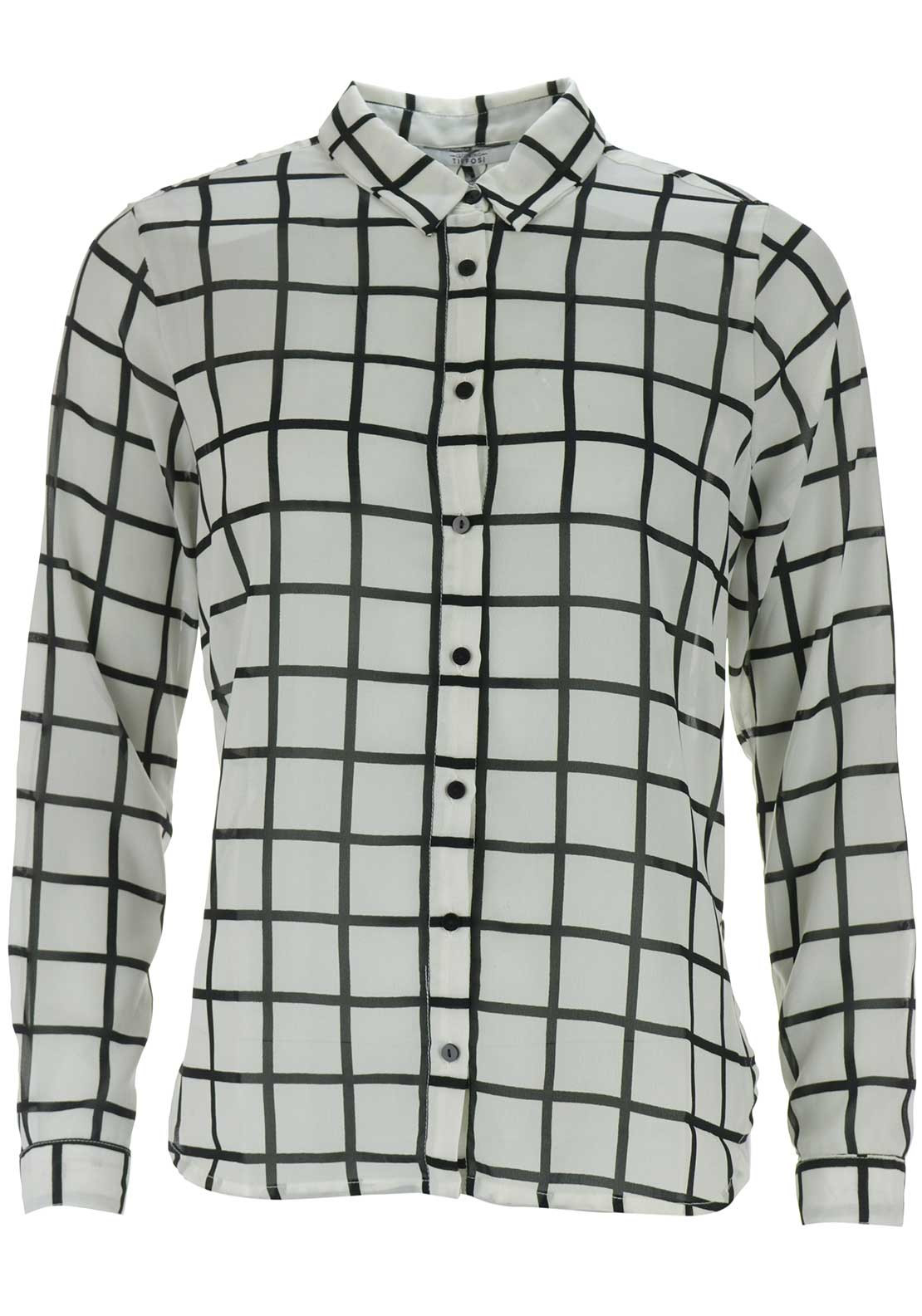 Tiffosi Womens Wendy Grid Shirt, White