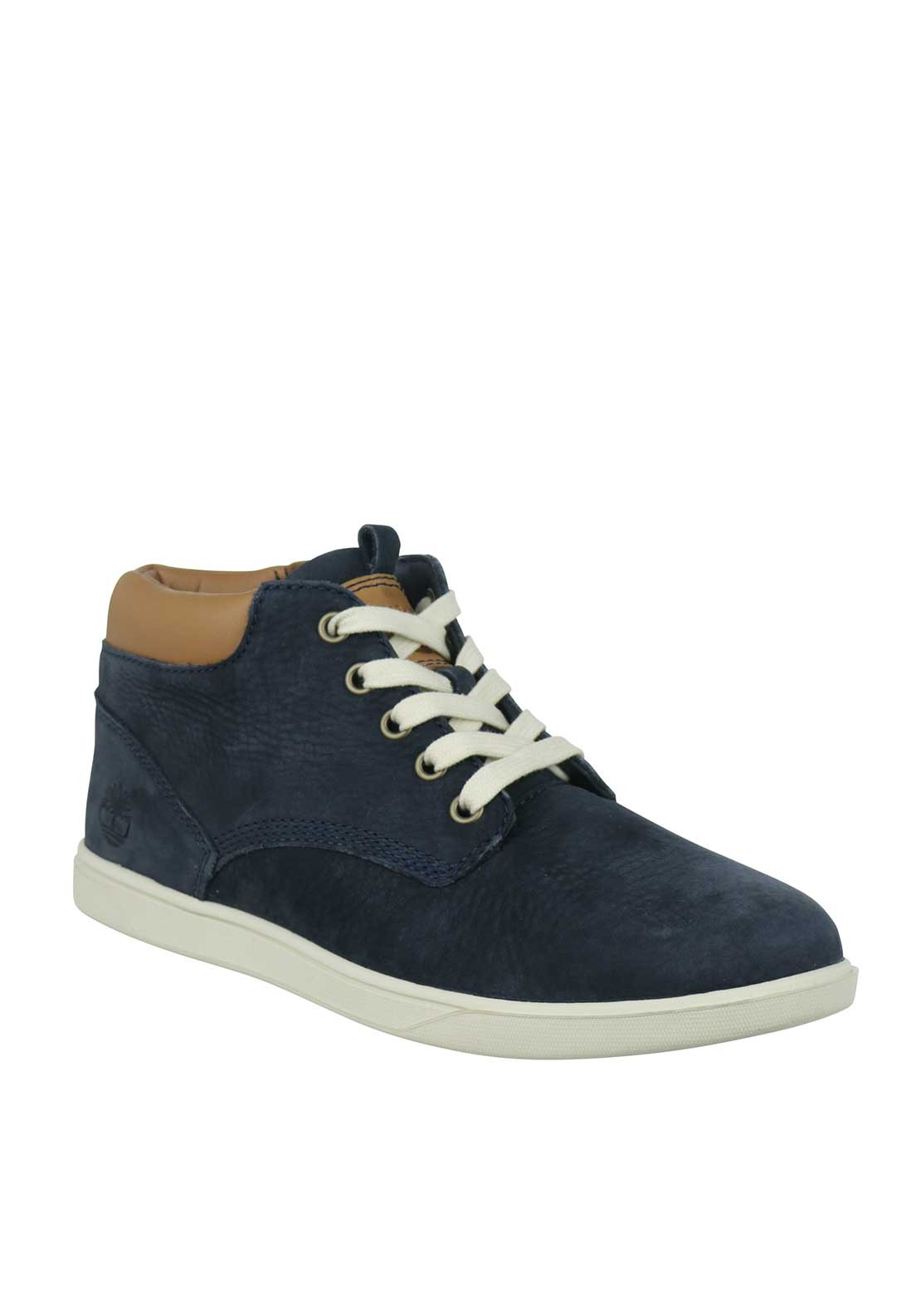 Timberland Boys Leather Hi Top Trainers, Navy