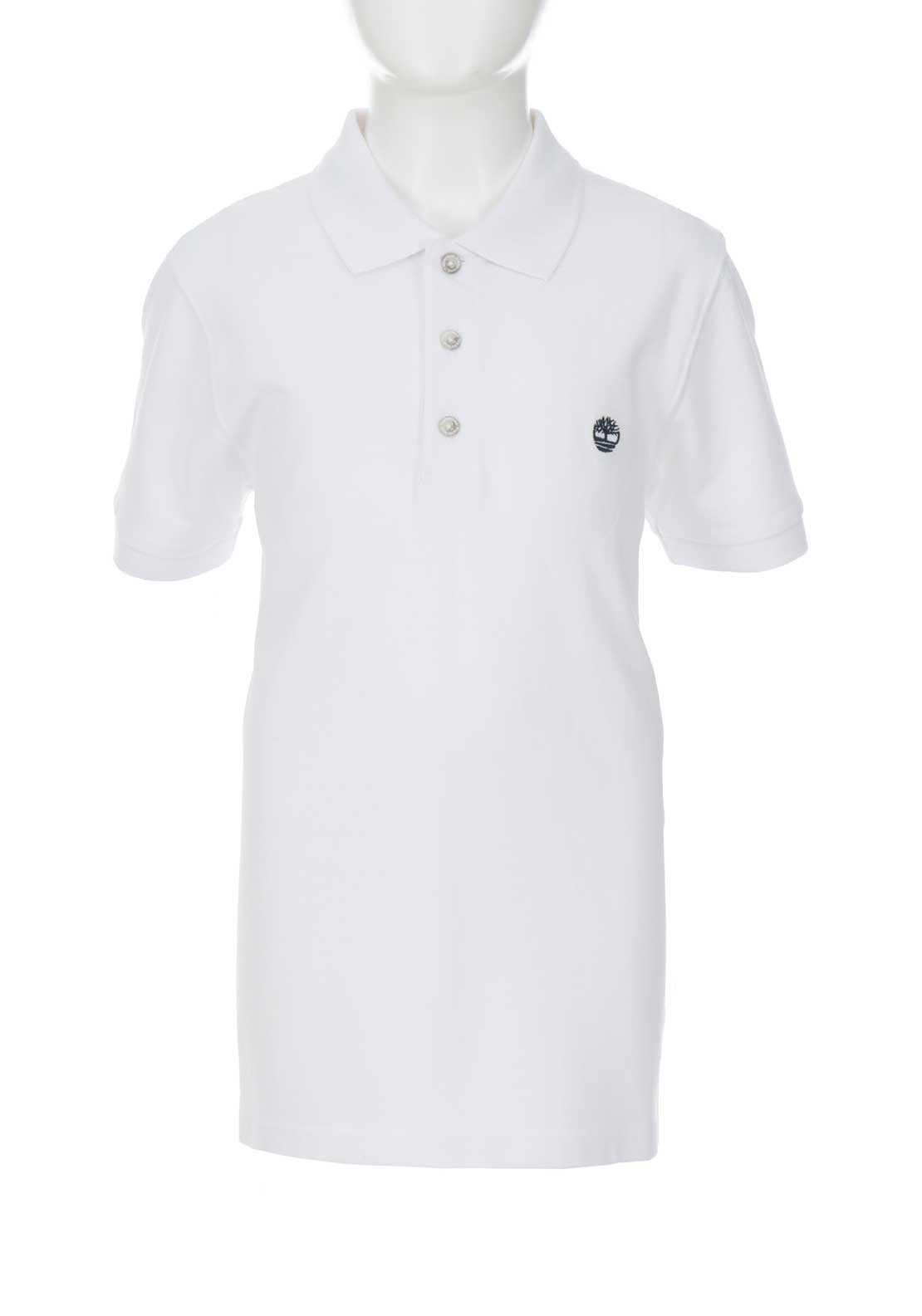 Timberland Boys Polo Shirt, White
