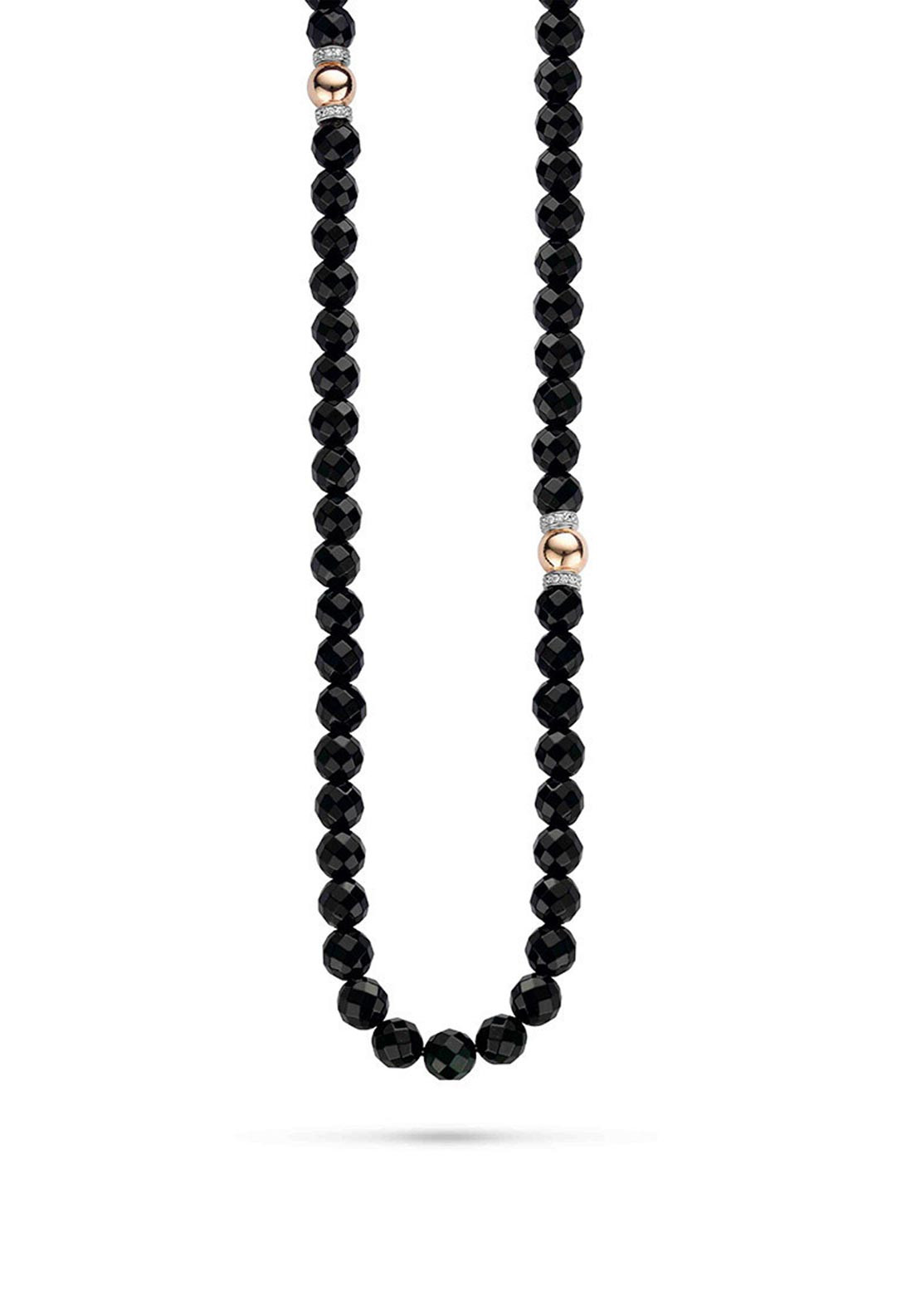 Ti Sento Milano Black Crystal Bead Necklace