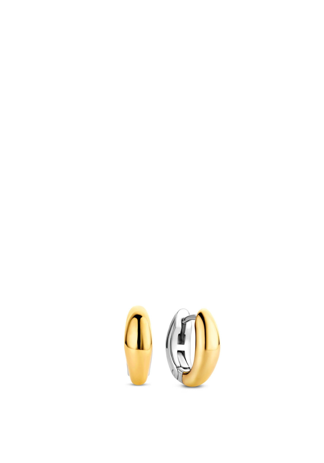 Ti Sento Small Oval Hoop Earrings, Silver & Gold