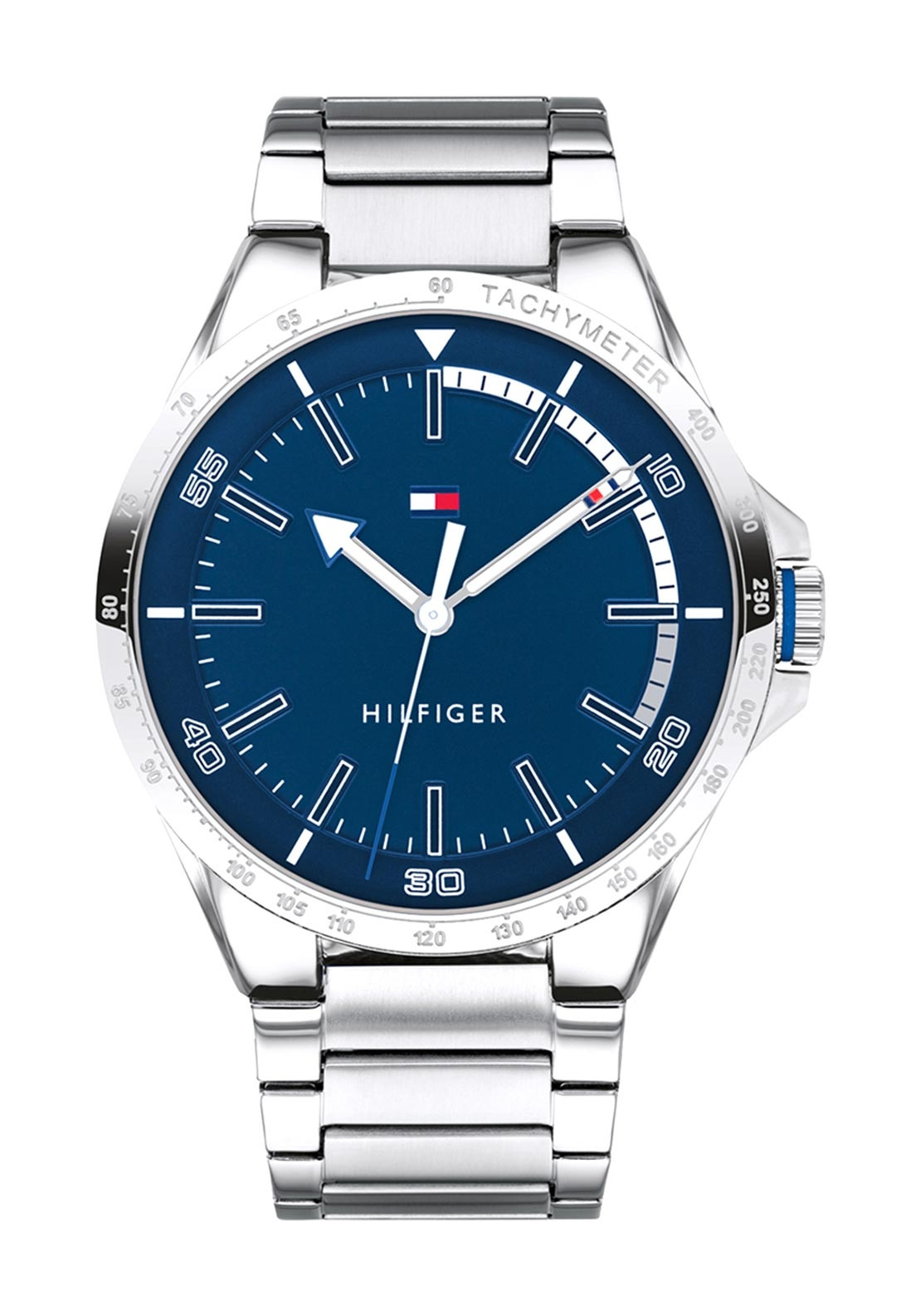 a4015e62 Be the first to review this product. Tommy Hilfiger Mens Stainless Steel  Watch, Silver & Dark Blue Dial