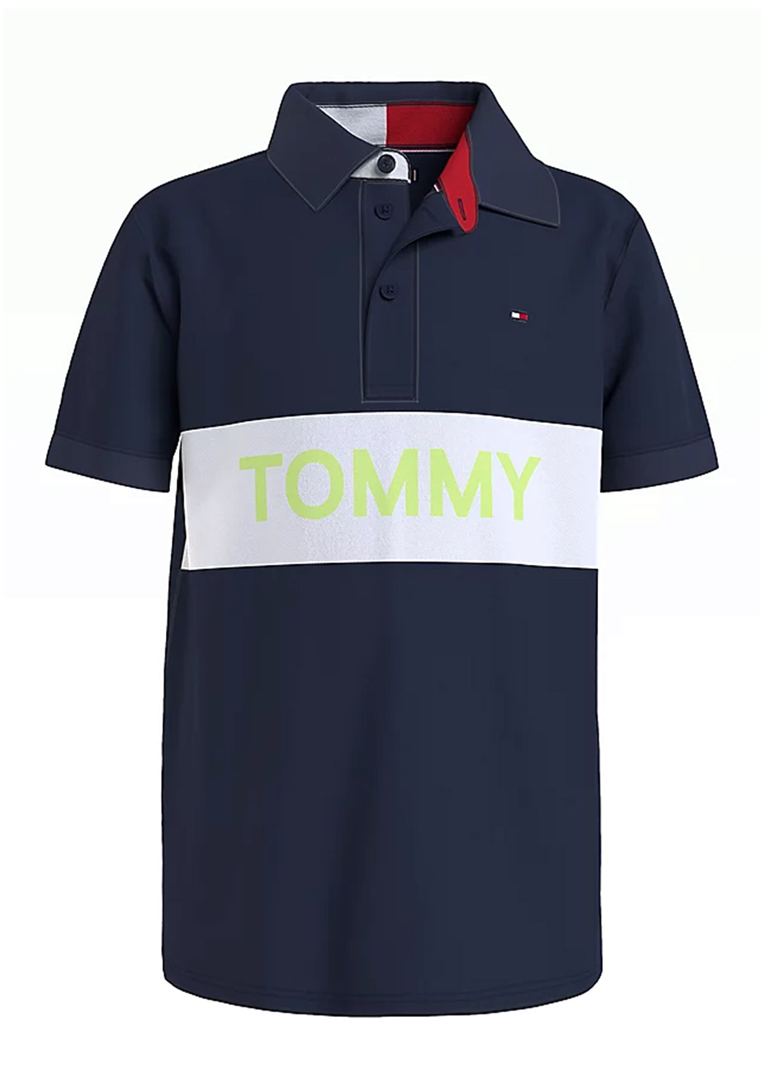 Tommy Hilfiger Boys Blocking Polo T-Shirt, Twilight Navy
