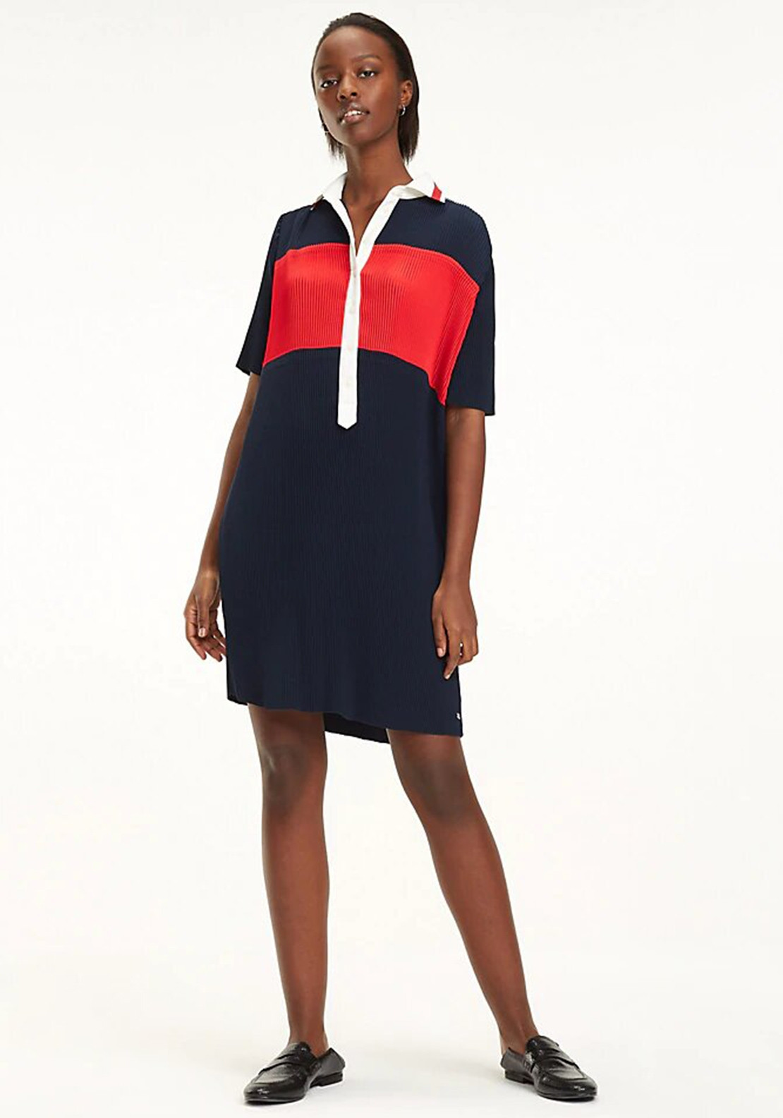 2dcca36c Tommy Hilfiger Frances Pleated Polo Dress, Navy. Be the first to review  this product