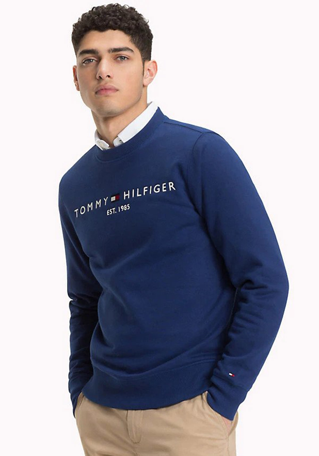 02a6b38c Tommy Hilfiger Mens Logo Sweatshirt, Blue. Be the first to review this  product
