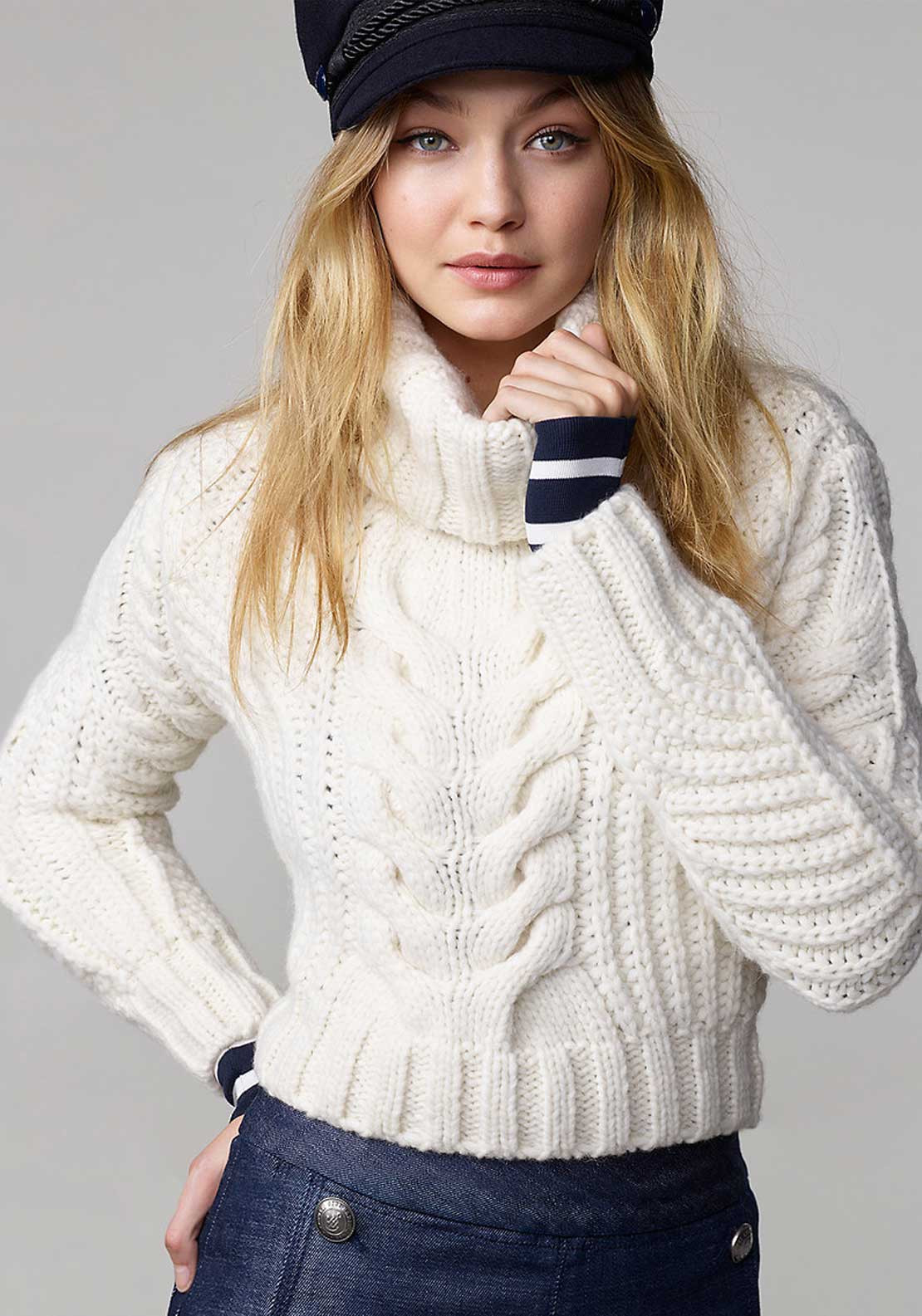 Tommy Hilfiger Gigi Hadid Roll Neck Jumper, White