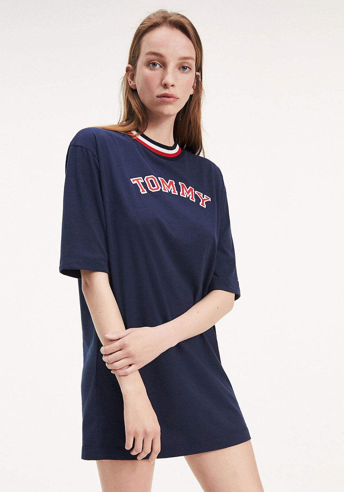 Tommy Hilfiger Womens Recycled Cotton Nightdress, Navy
