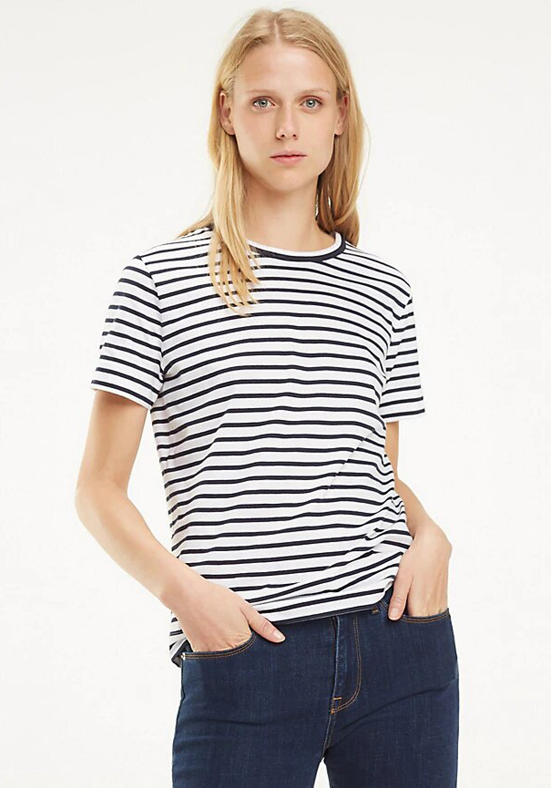 077d5b95 Tommy Hilfiger Womens Relaxed T-Shirt, Navy & White. Be the first to review  this product