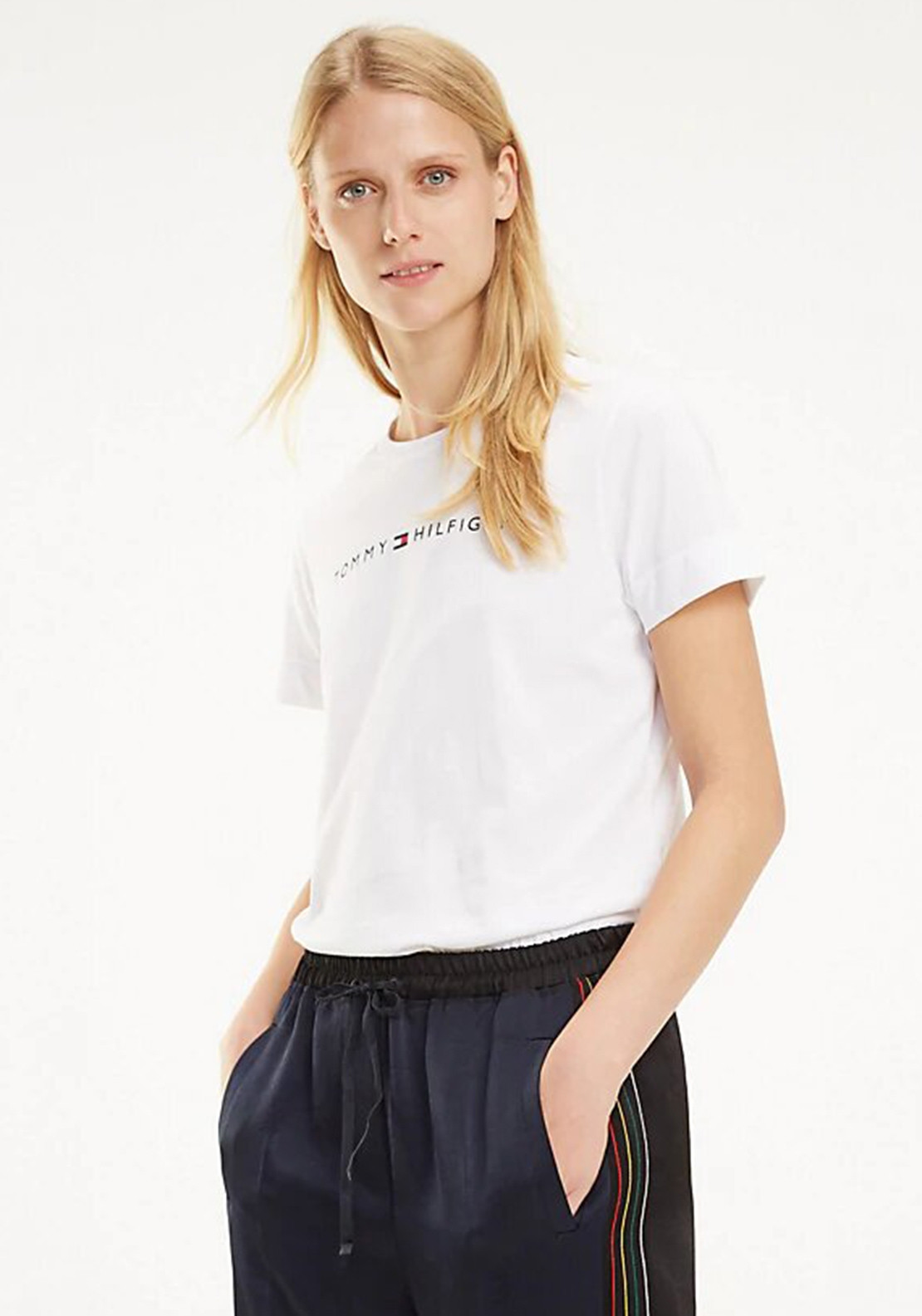 4afbcad2 Tommy Hilfiger Womens Logo T-Shirt, White. Be the first to review this  product
