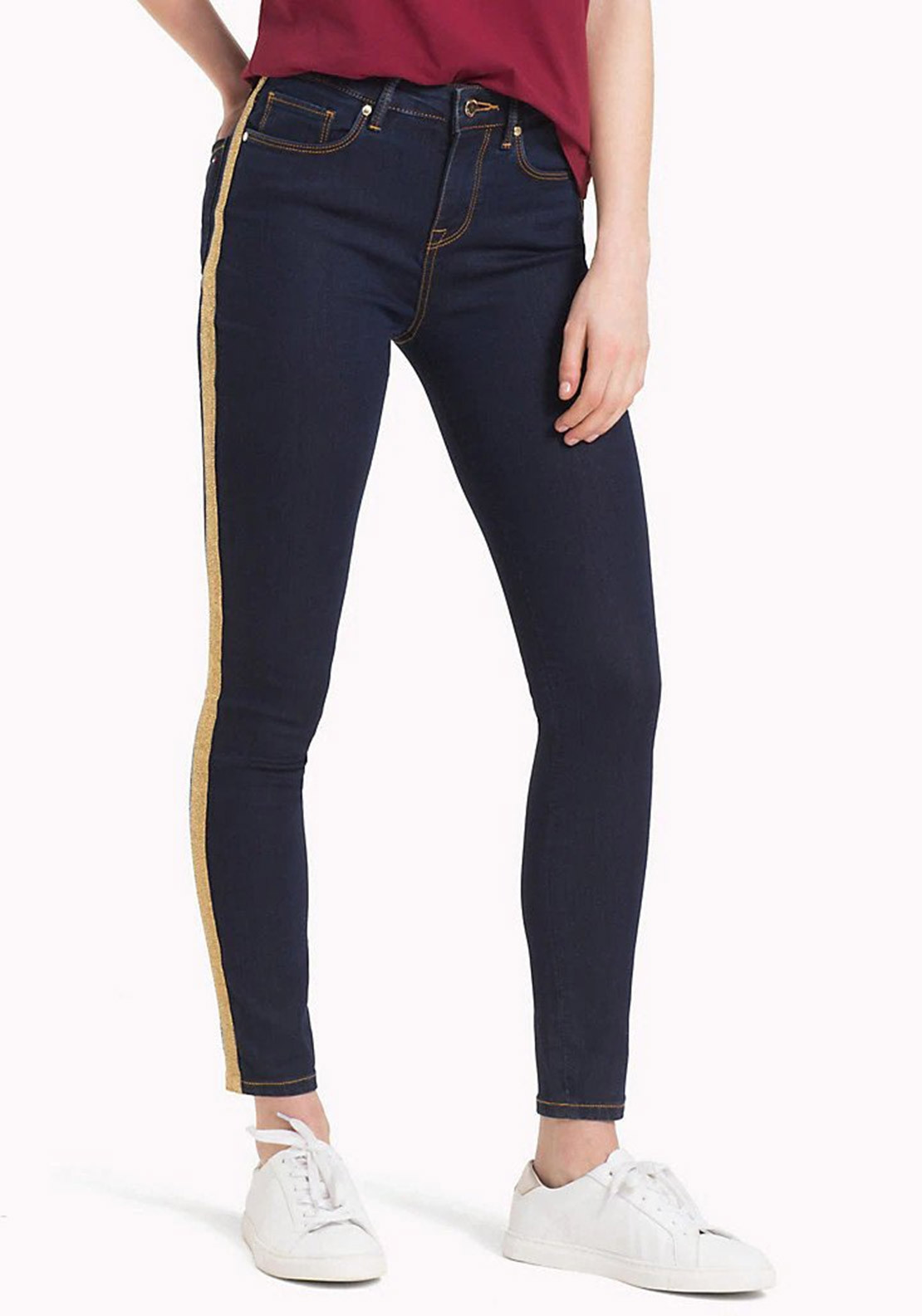 3e5ccacb11 Tommy Hilfiger Womens Icon Como Jeans, Navy | McElhinneys