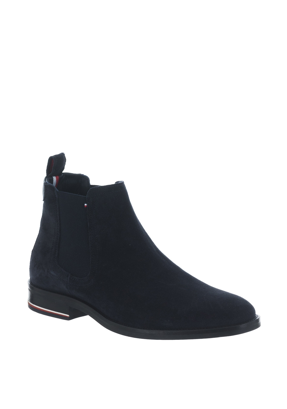 check out 6a3b1 3c65d Tommy Hilfiger Mens Signature Suede Chelsea Boot, Navy