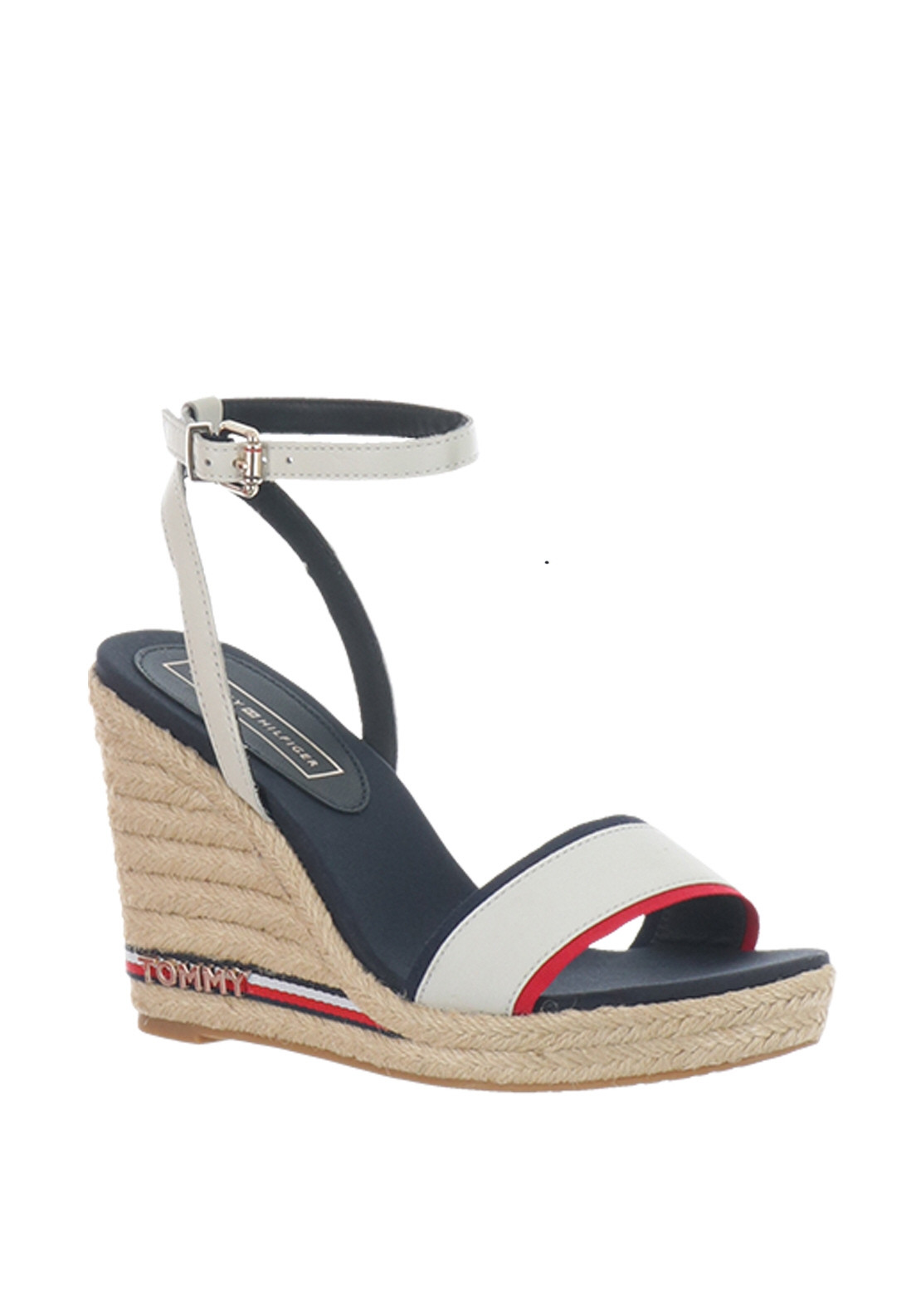0ad5a099 Tommy Hilfiger Womens Elena Wedge Sandals, White Multi | McElhinneys