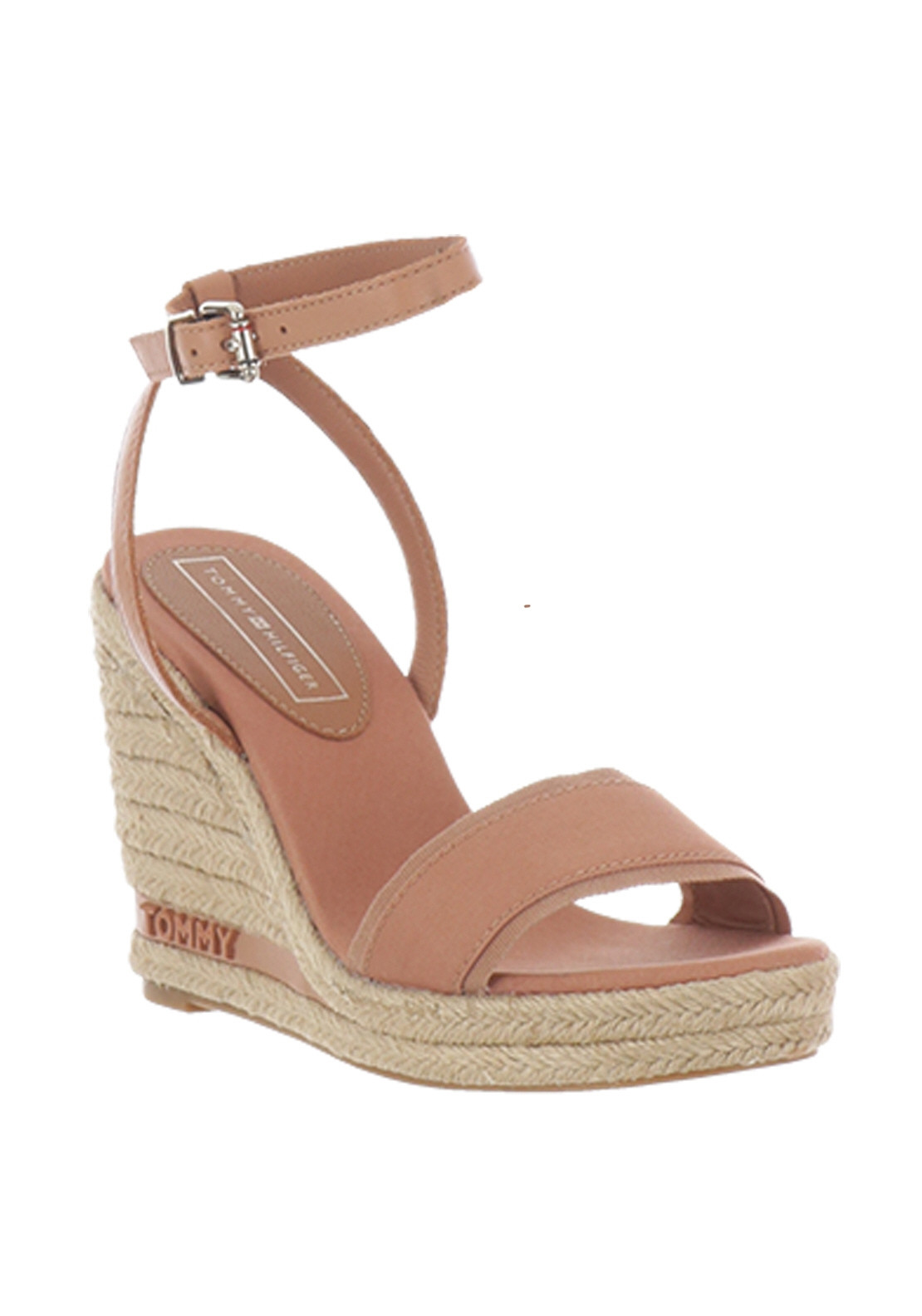 6b314ff54c2 Tommy Hilfiger Womens Elena Wedge Sandals, Pink