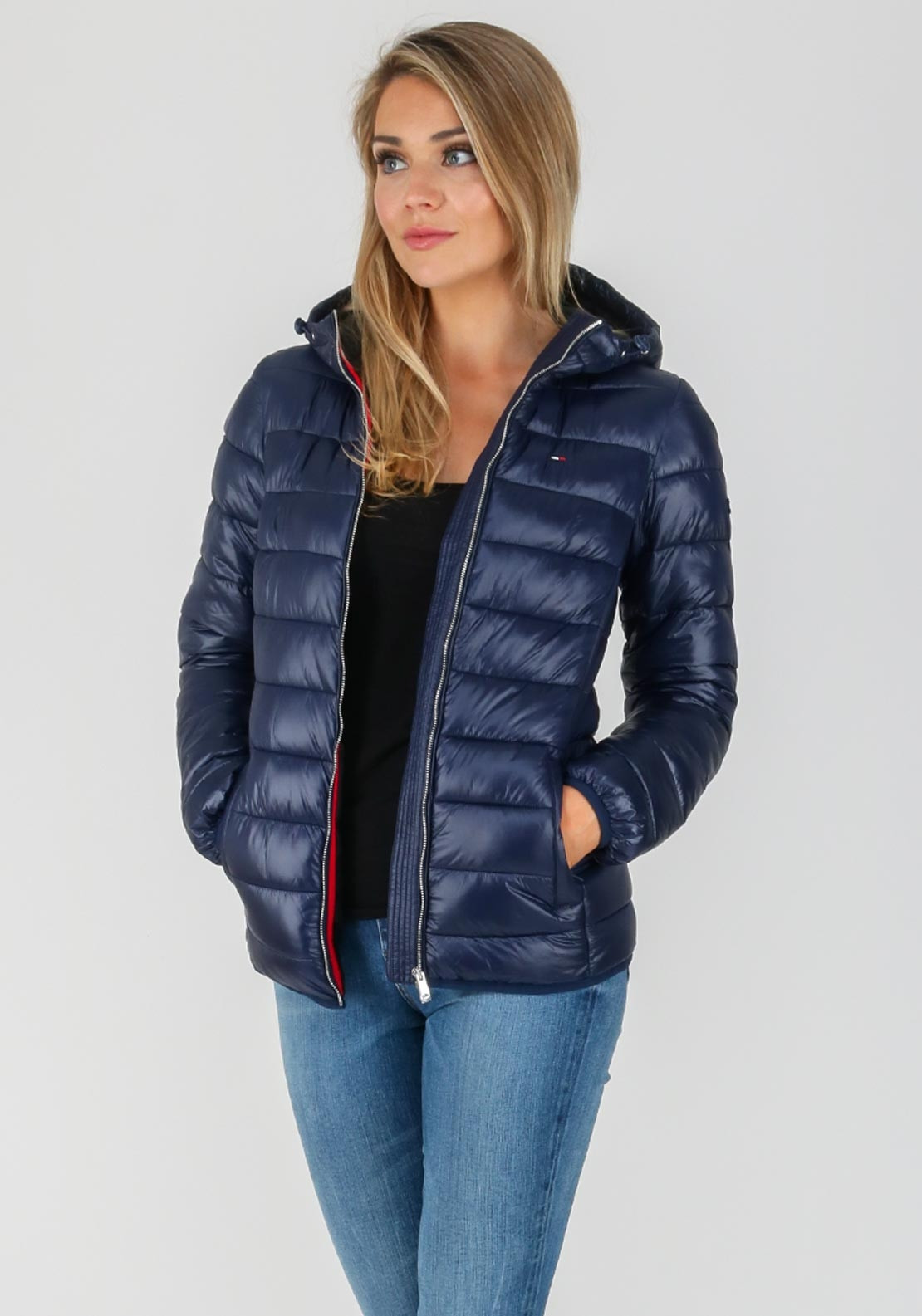 461648200a897 Tommy Hilfiger Womens Quilted Jacket, Navy. Be the first to review this  product