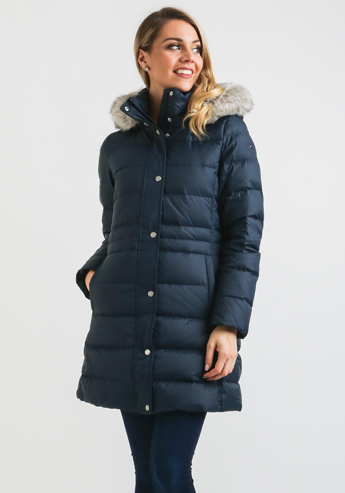 c68ff1973114 Tommy Hilfiger Womens Tyra Quilted Coat