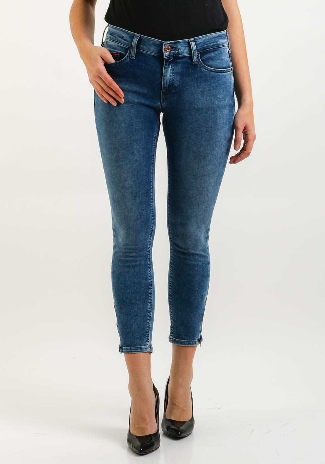 a5881558 Tommy Jeans Womens Nora Skinny 7/8 Jeans, Blue. Be the first to review this  product