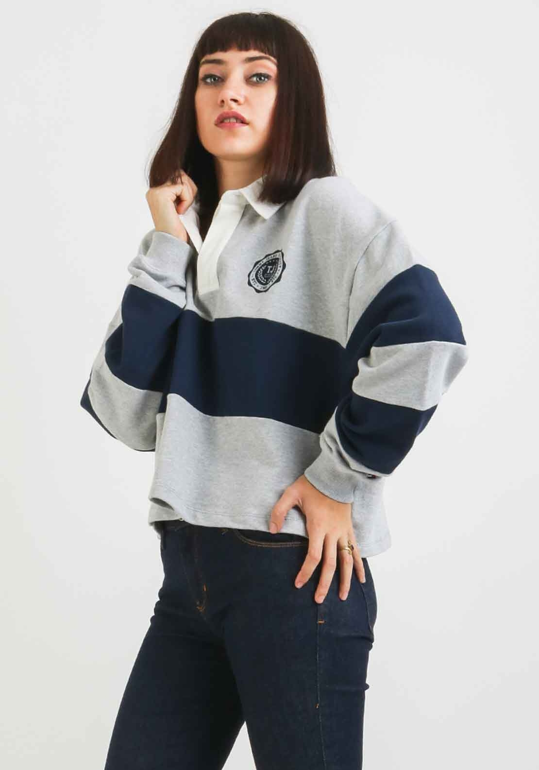 42f1d3489c7 Tommy Jeans Womens Rugby Sweatshirt, Grey. Be the first to review this  product