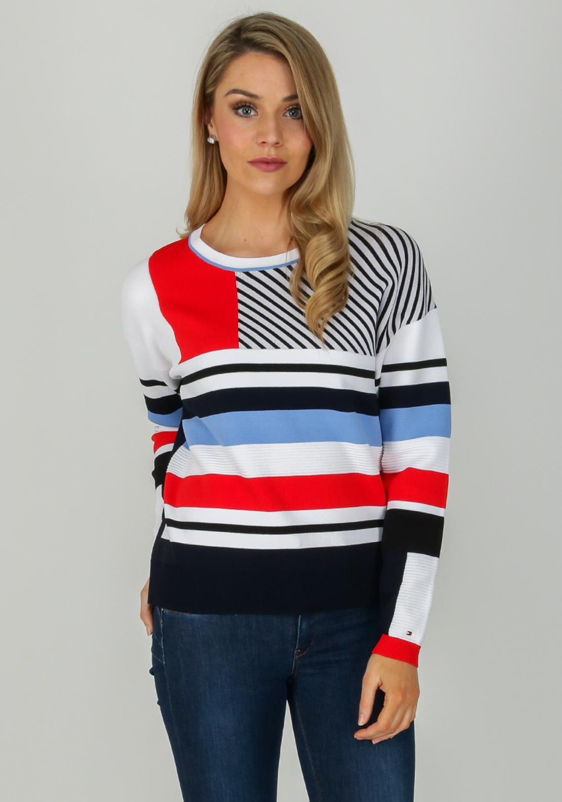 69583c2f30 Tommy Hilfiger Womens Striped Jumper