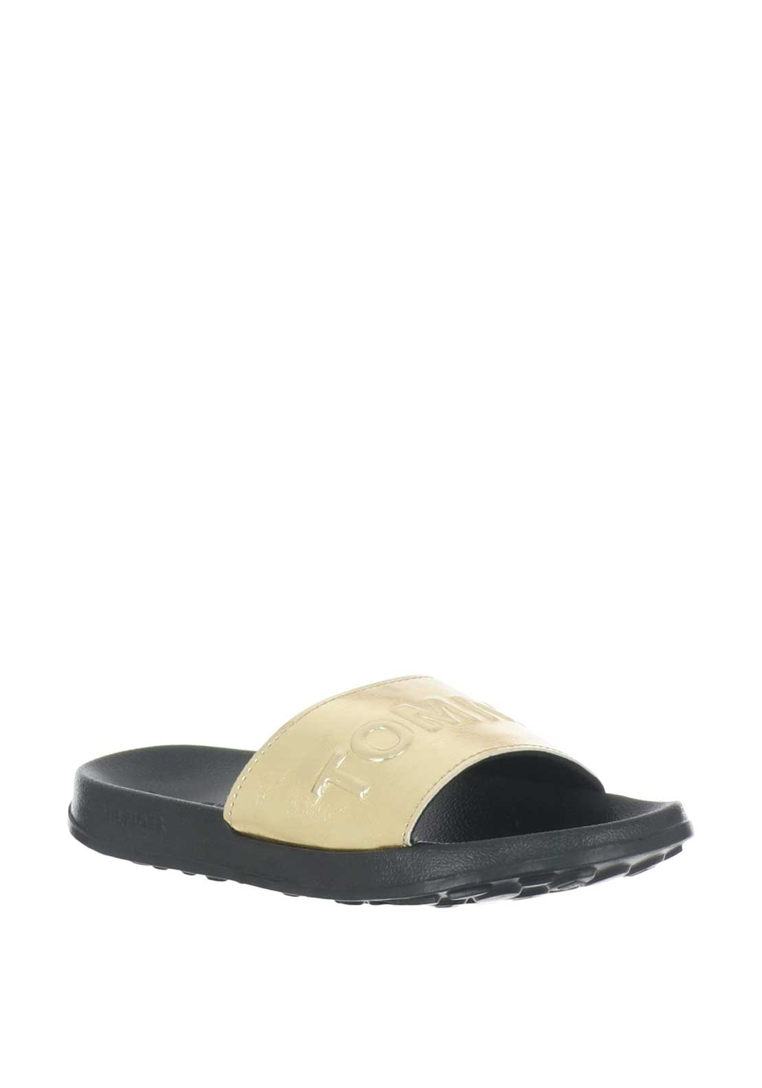 b956984e4 Tommy Jeans Metallic Pool Slider Sandals