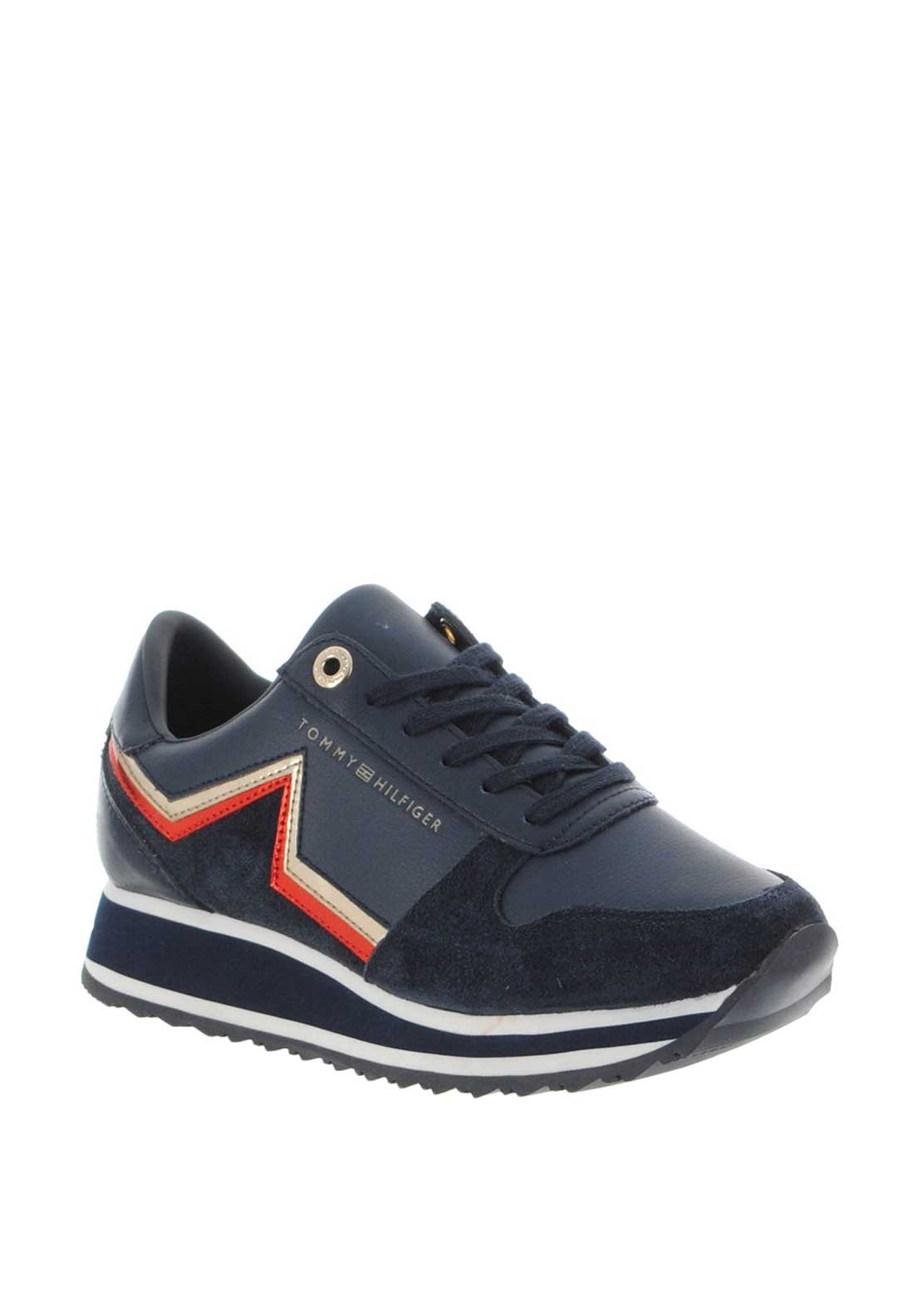 eea09073f158 Tommy Hilfiger Womens Leather Star Trainers
