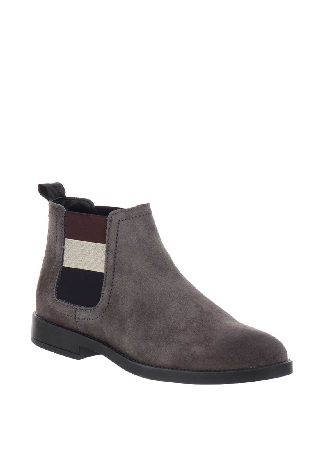 best selling terrific value the best Tommy Jeans Womens Nubuck Chelsea Boots, Grey