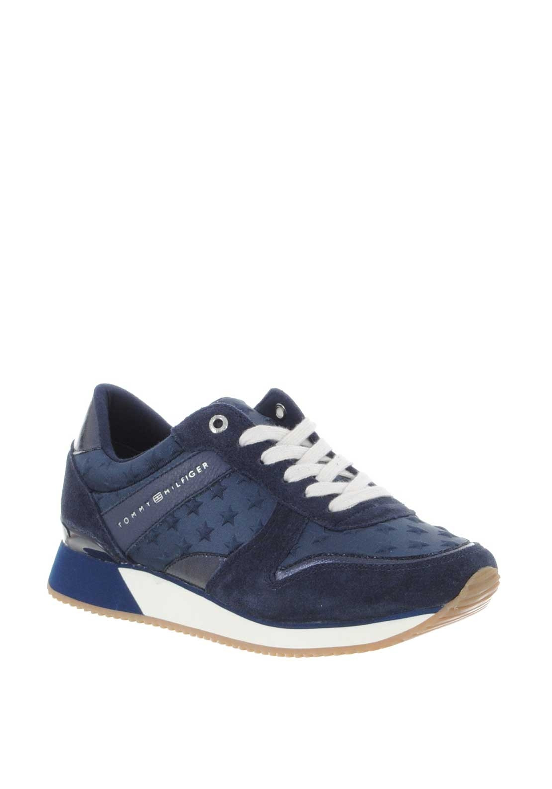 6072e0a73099 Tommy Hilfiger Women Star Leather Trainers