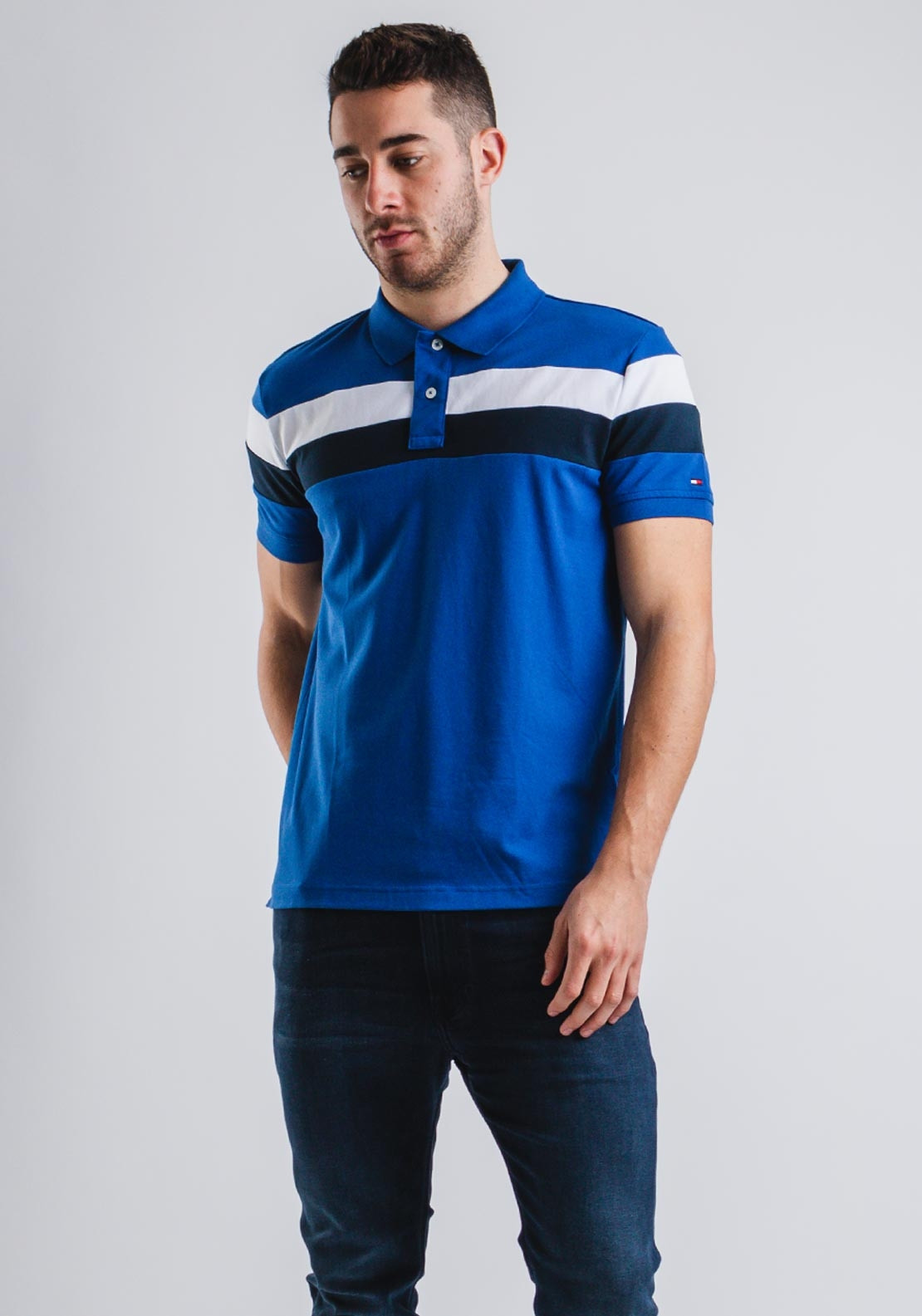8ac8dc6e Tommy Hilfiger Blue Quartz Stripe Polo, Blue. Be the first to review this  product