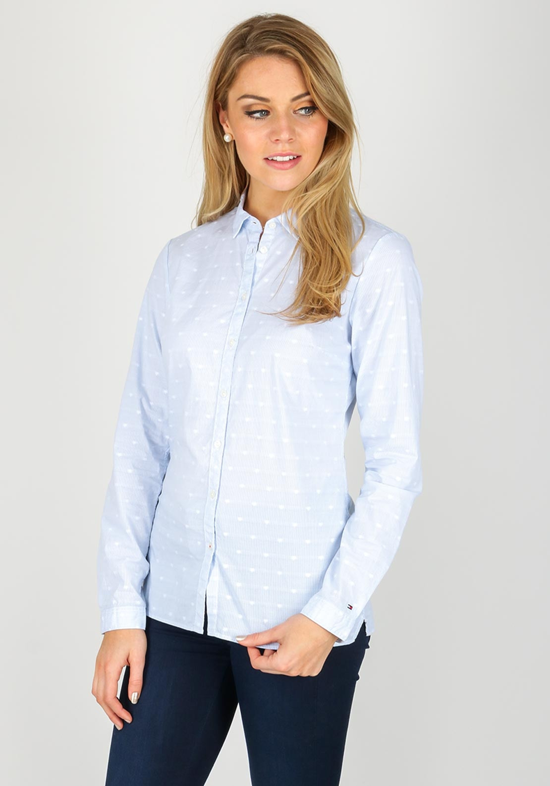 df76b099 Tommy Hilfiger Womens Javana Fitted Shirt, Blue. Be the first to review  this product
