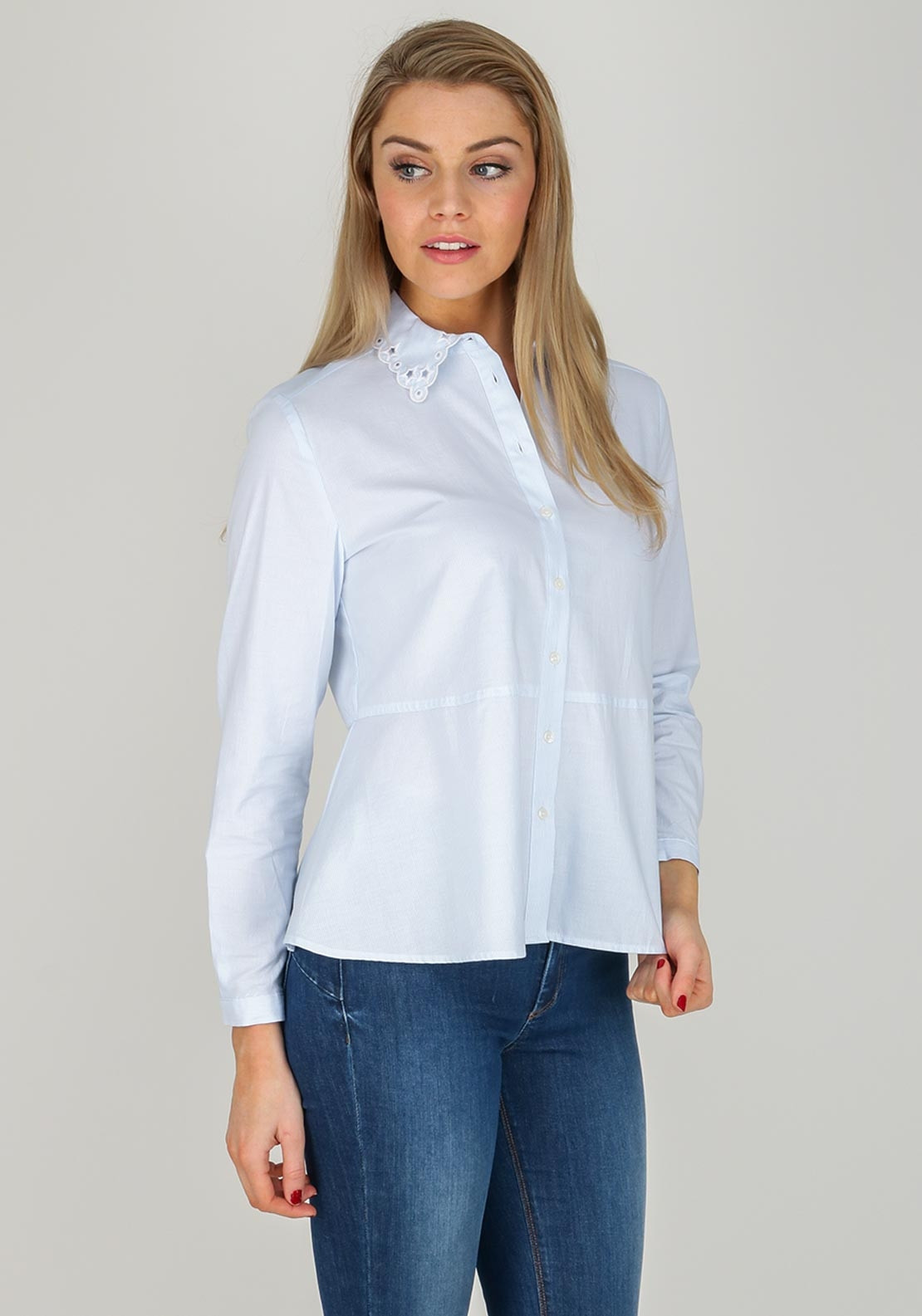 95f9b448 Tommy Hilfiger Womens Haven Flared Shirt, Blue | McElhinneys
