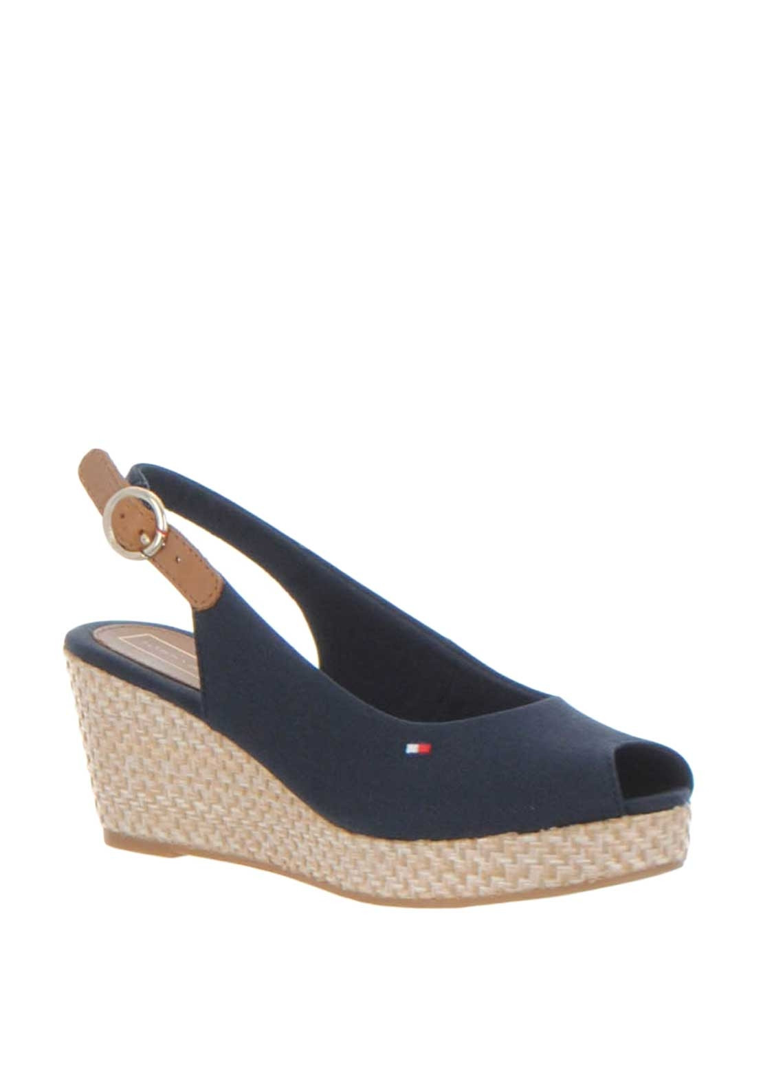 3867988325e Tommy Hilfiger Womens Slingback Wedge Sandals, Navy. Be the first to review  this product