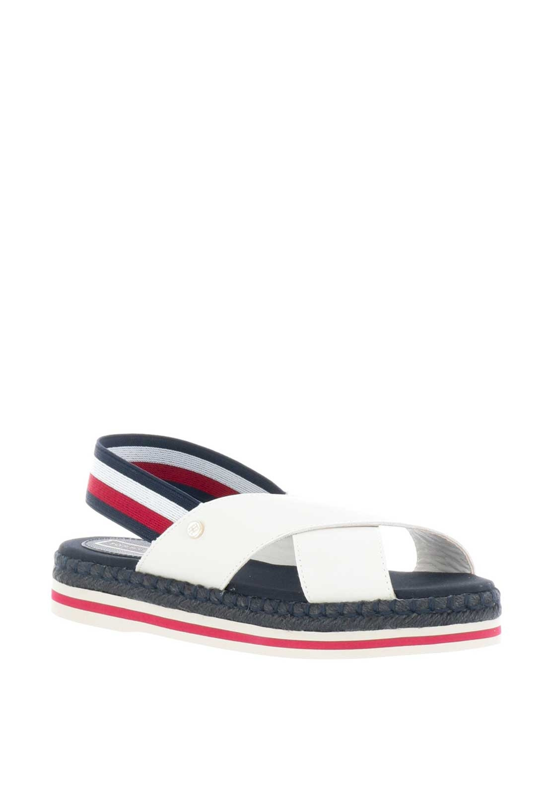 c78aeeeb Tommy Hilfiger Womens Leather Sling Back Rope Sandals, White ...
