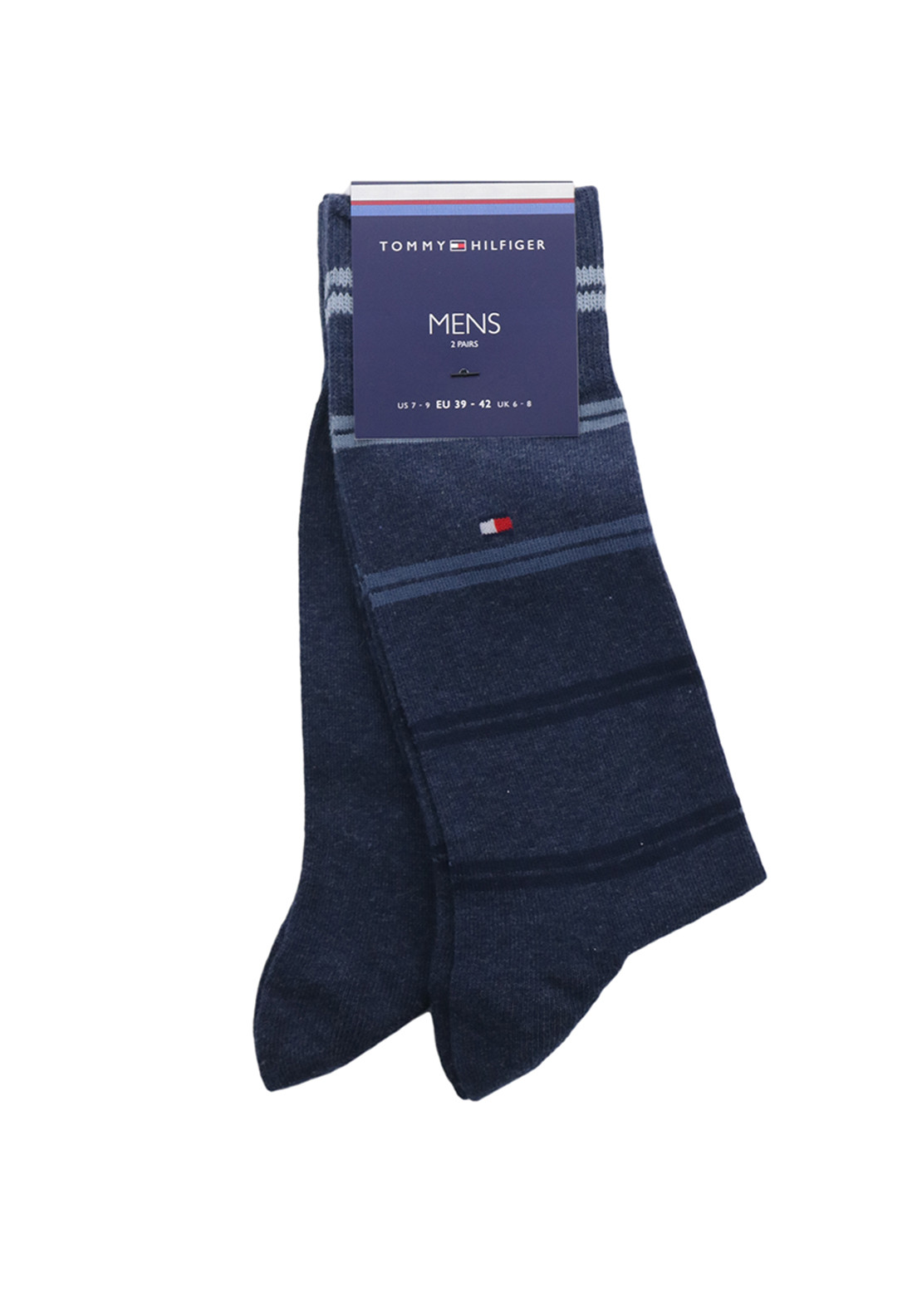 Tommy Hilfiger Mens 2 Pair Socks, Navy