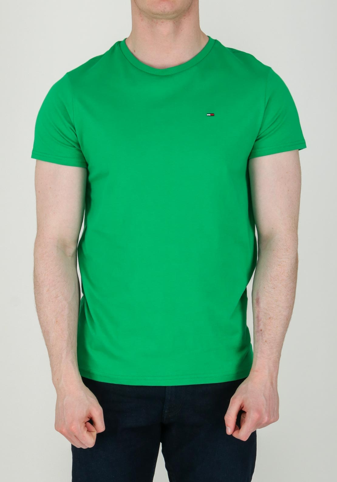 Tommy Jeans Men's Essential T-Shirt, Bright Green