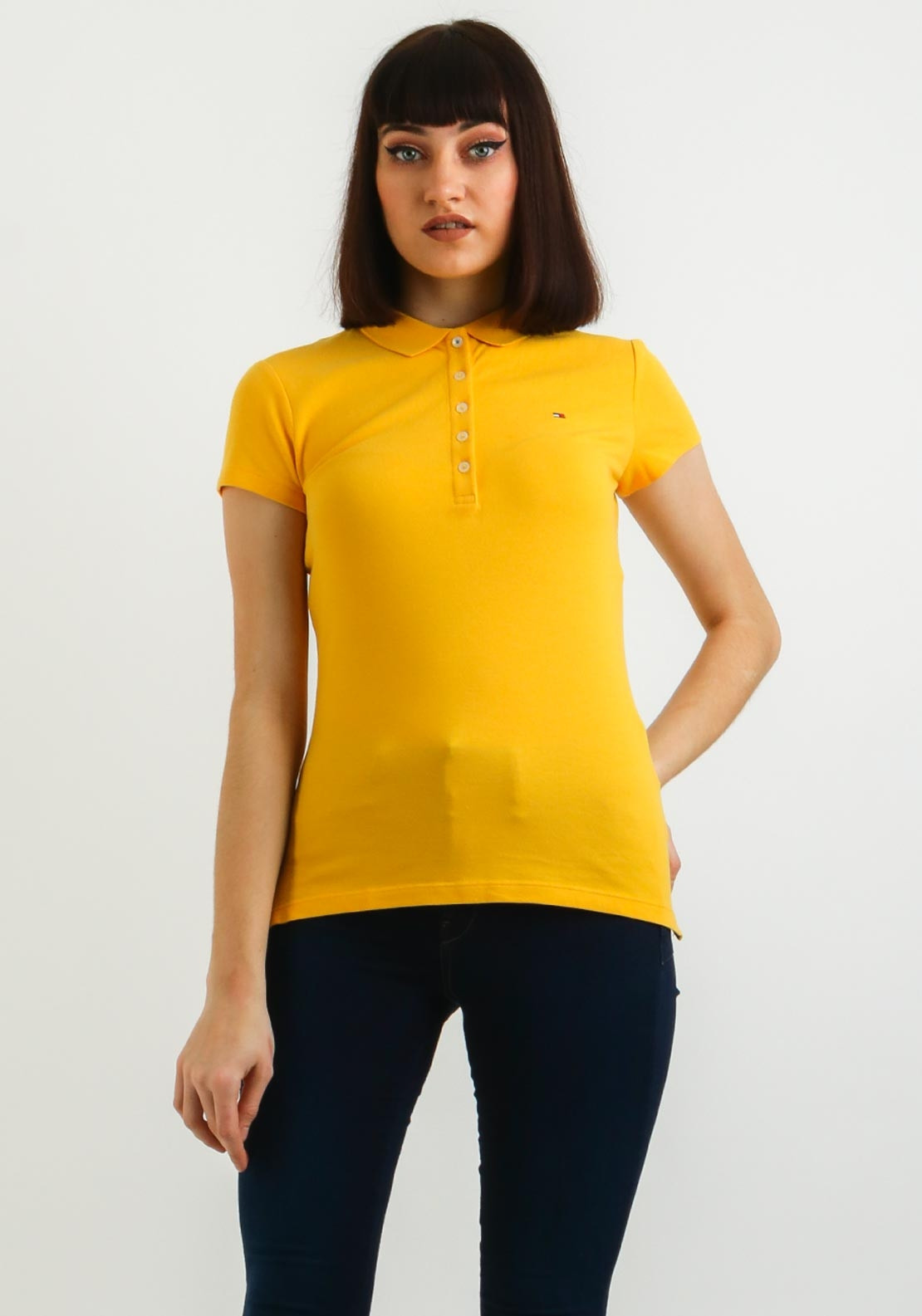 db6f66cc5 Tommy Hilfiger Womens Chiara Slim Fit Polo Shirt