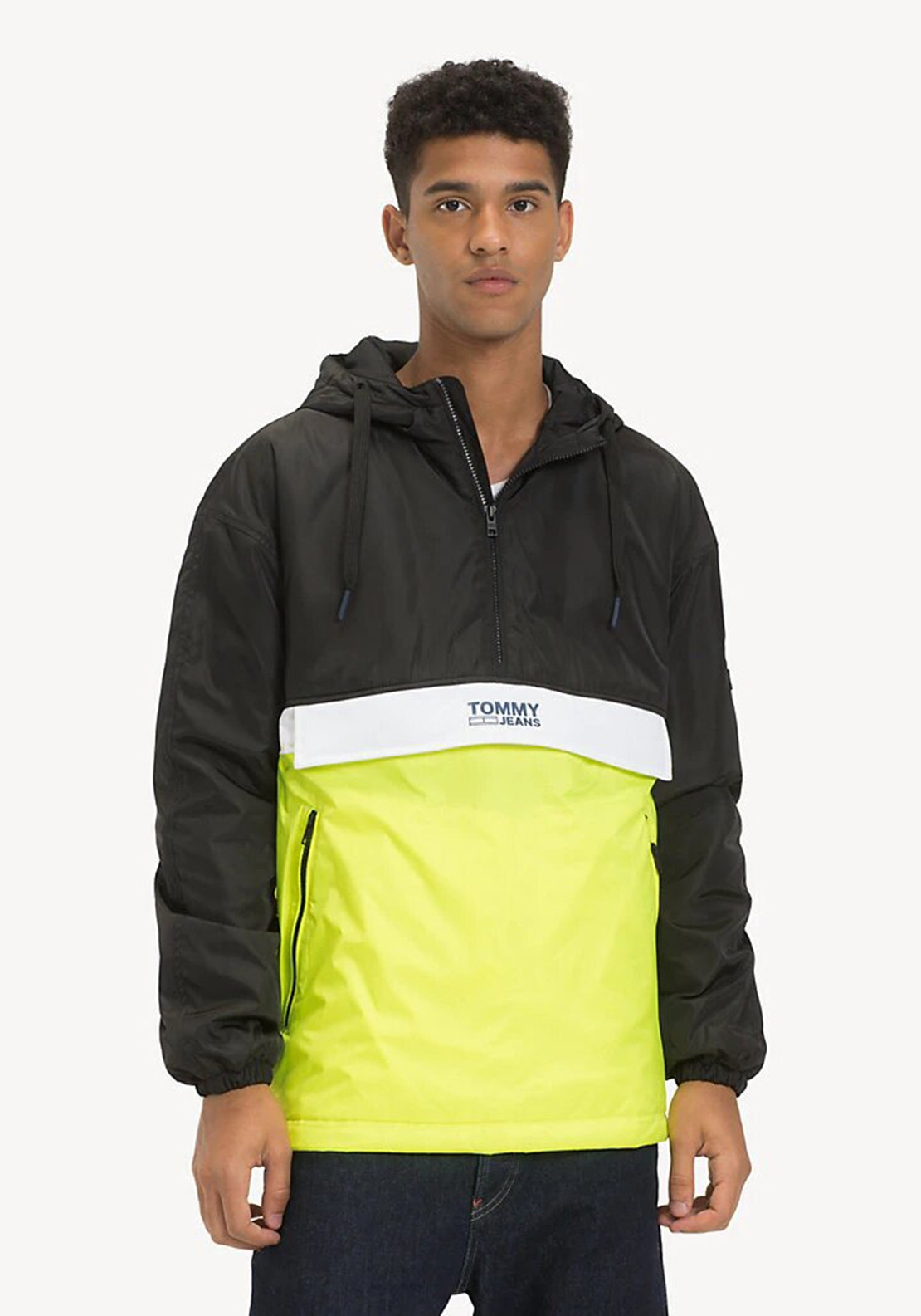 79e6cc721 Tommy Jeans ColorBlock Popover Coat, Yellow. Be the first to review this  product
