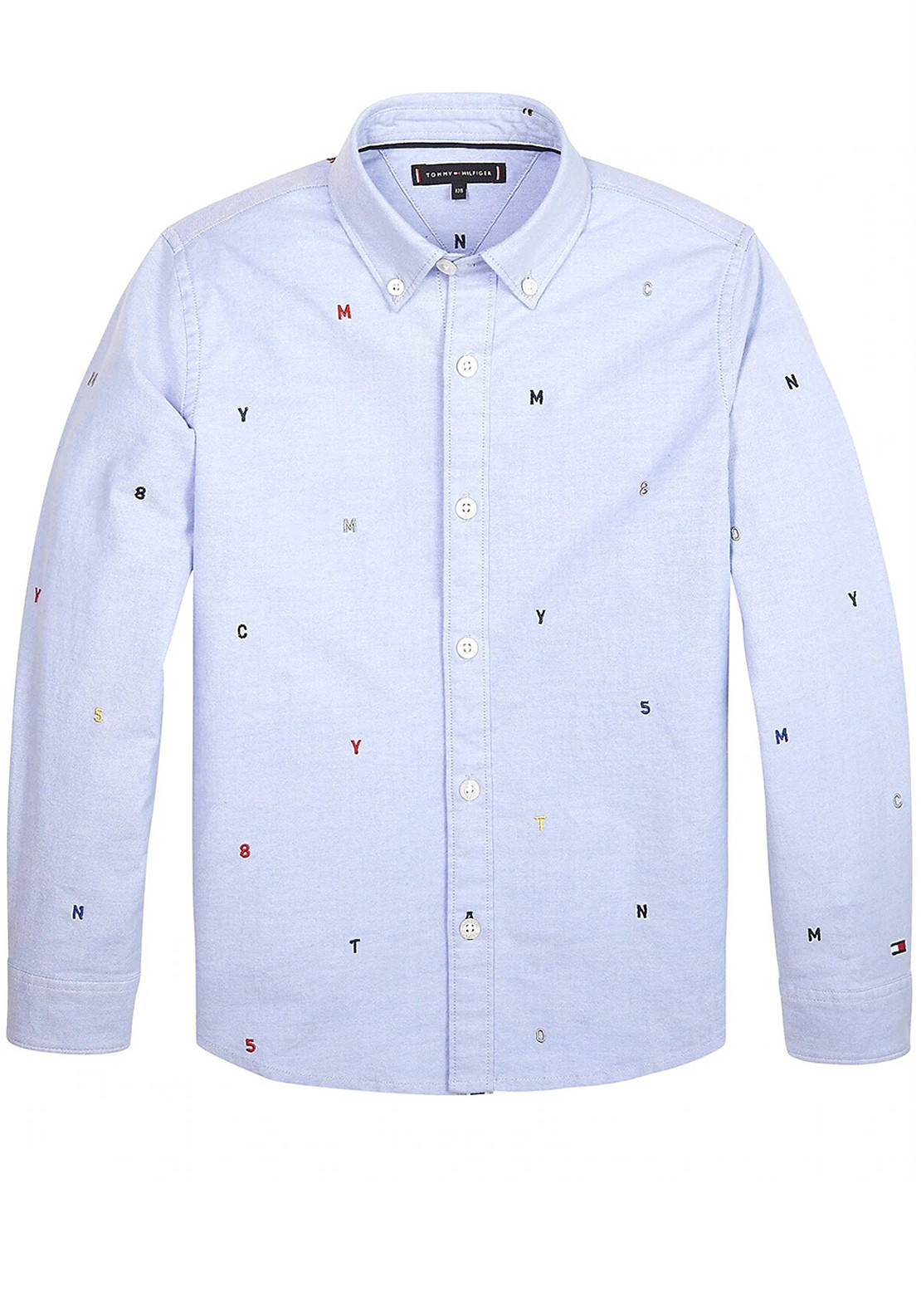 classic styles best quality innovative design Tommy Hilfiger Boys Embroidered Letter Shirt, Blue