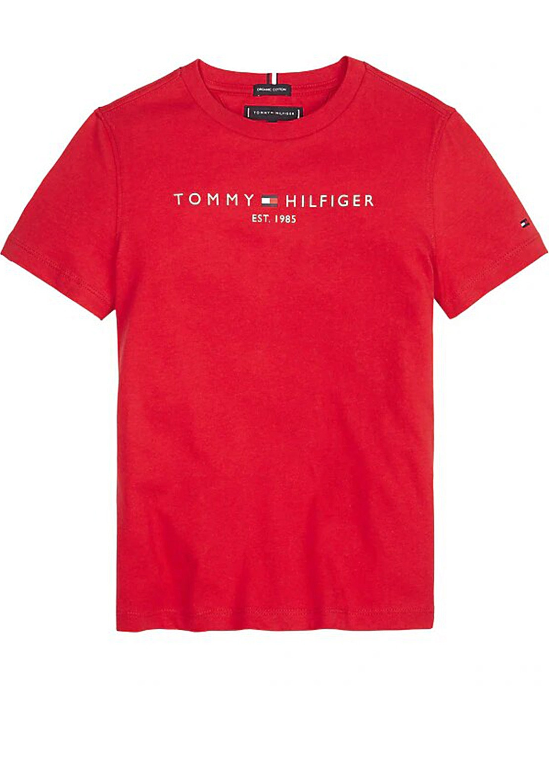 famous brand promo code pretty nice Tommy Hilfiger Boys Essential Logo T-Shirt, Red