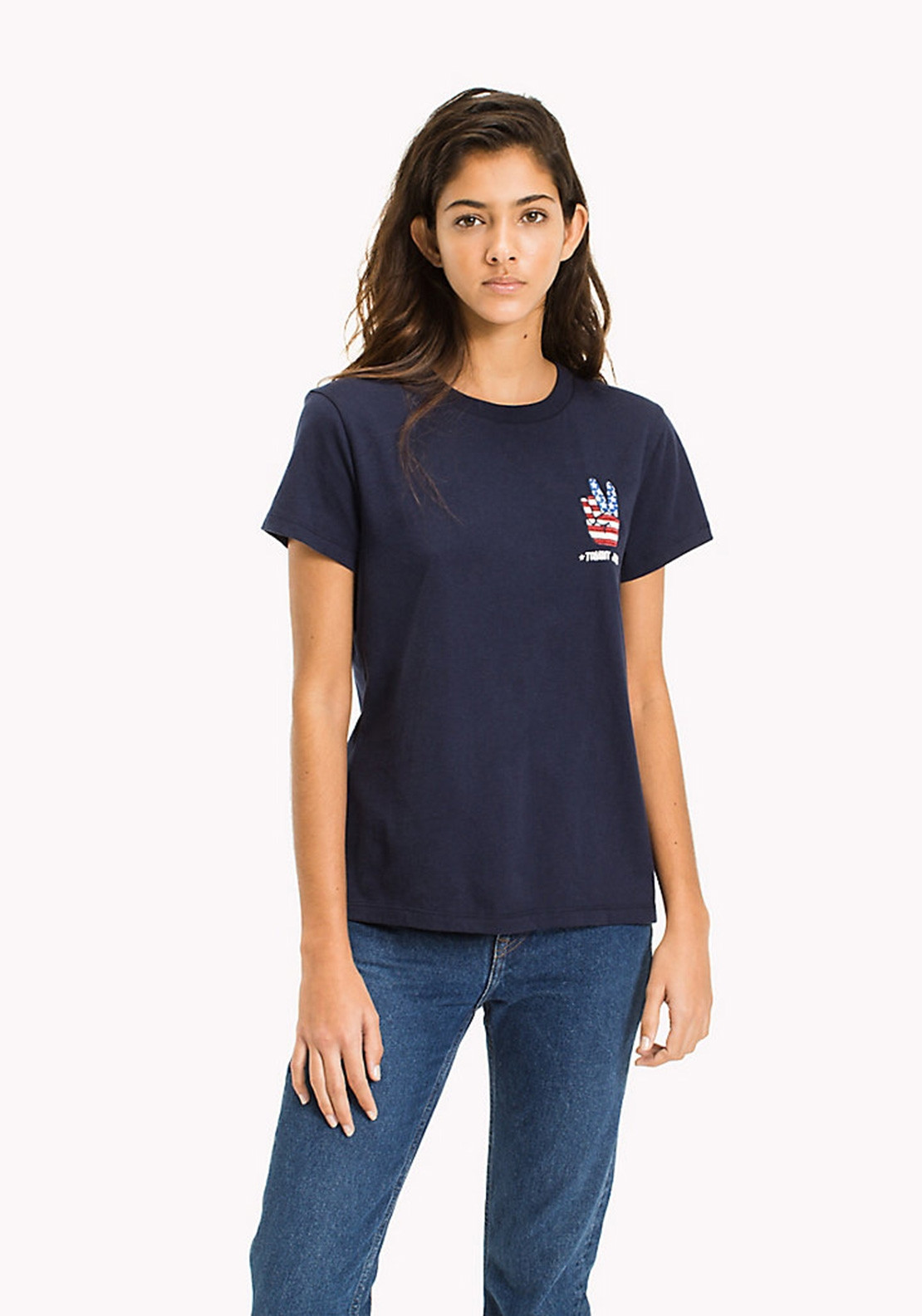 6a0ed1c52a7 Tommy Jeans Womens Badge T-Shirt, Navy | McElhinneys