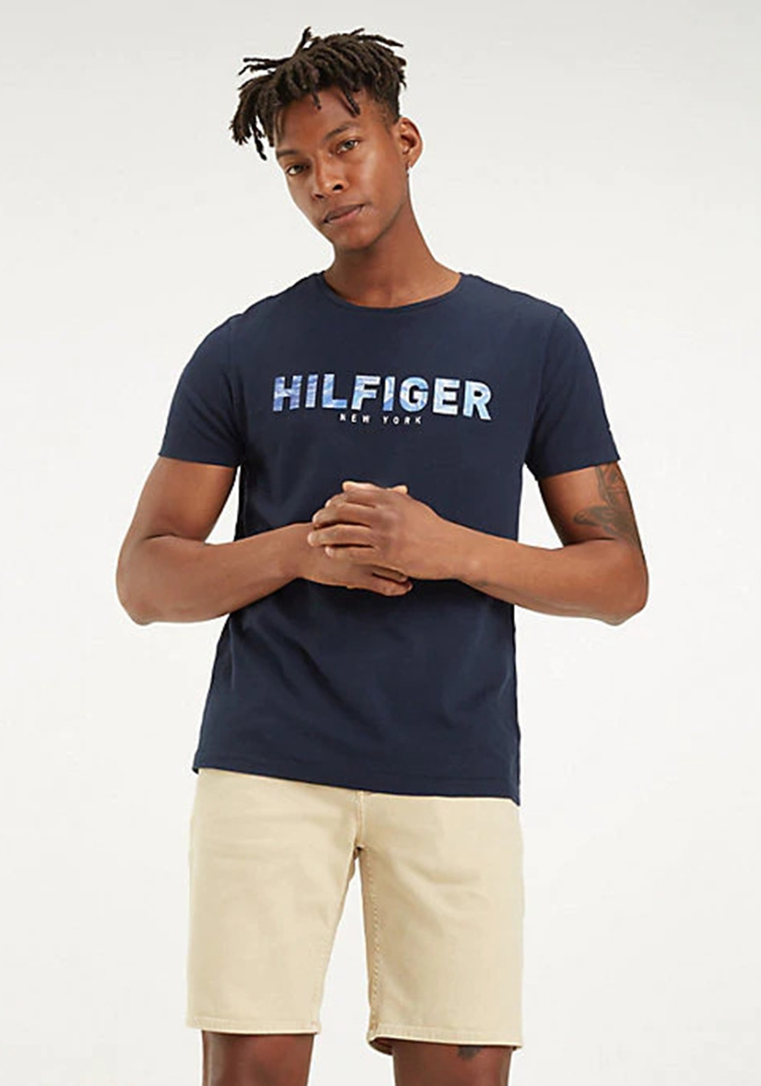 0dd4a51b Tommy Hilfiger Men's Cotton Logo Tee, Sky Captain. Be the first to review  this product
