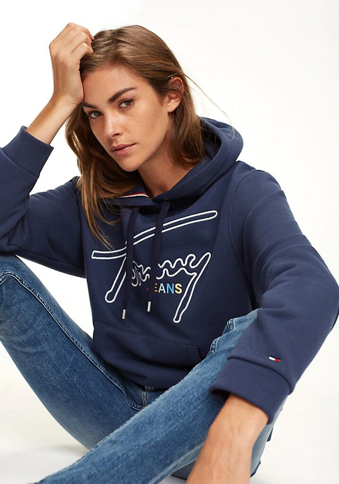 4e8ff5ae4 Tommy Jeans Womens Signature Hoodie, Navy. Be the first to review this  product