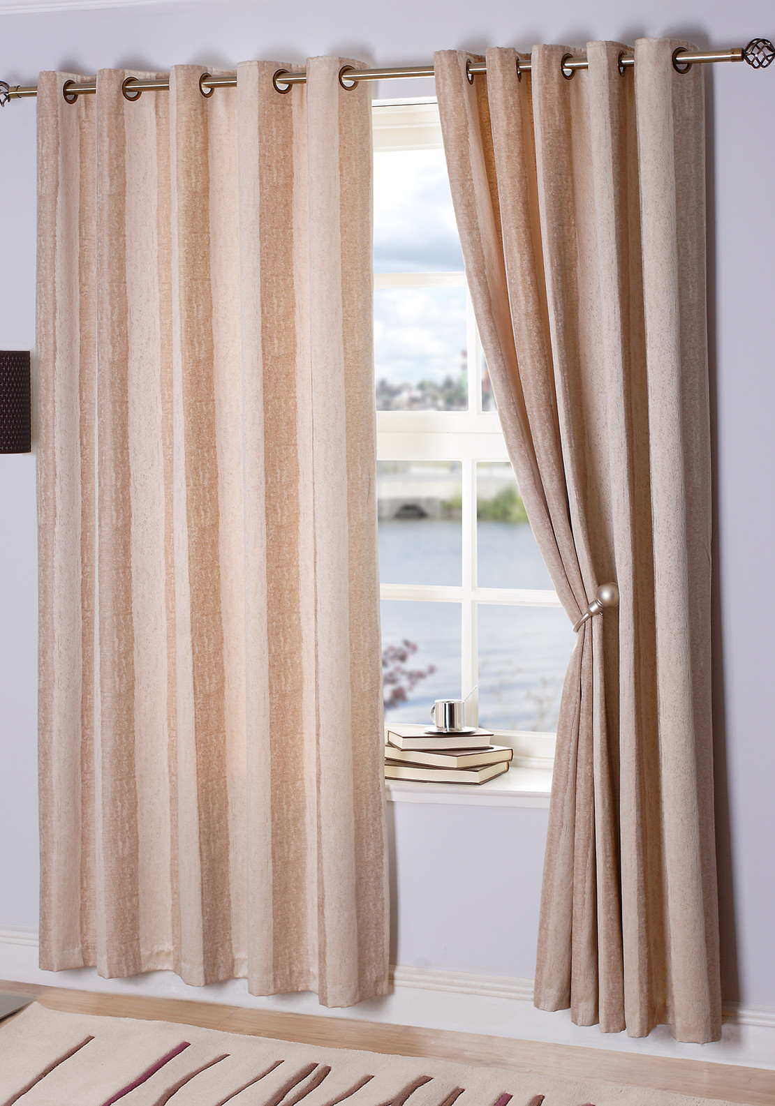 E.A. Delaney Toulon Eyelet Curtains, Sand