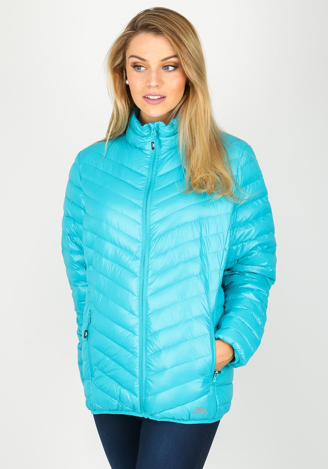 Trespass Down Amp Feather Quilted Jacket Turquoise