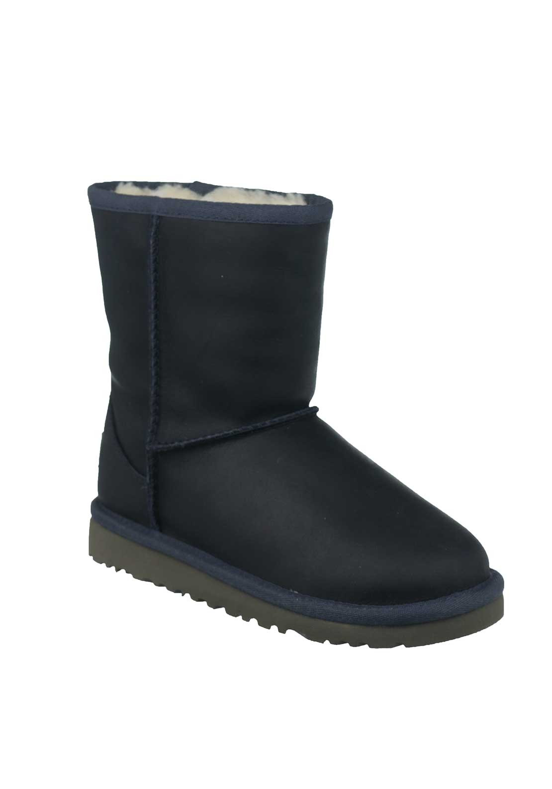 UGG Australia Kids Classic Leather Boot, Navy