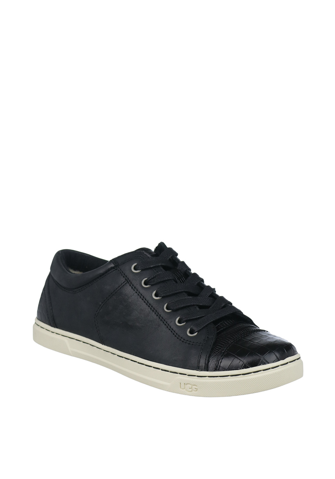 UGG Australia Womens Taya Croc Leather Trainers, Black