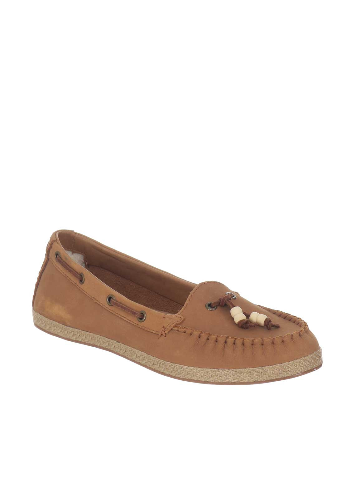 157c30eea3f UGG Australia Womens Suzette Leather Loafers, Tan