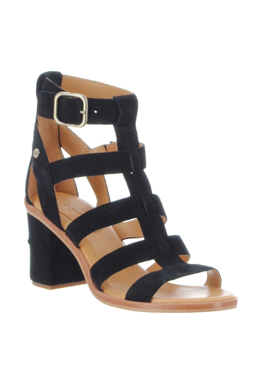 17b78b4114b UGG Womens Macayla Suede Gladiator Heeled Sandals, Black