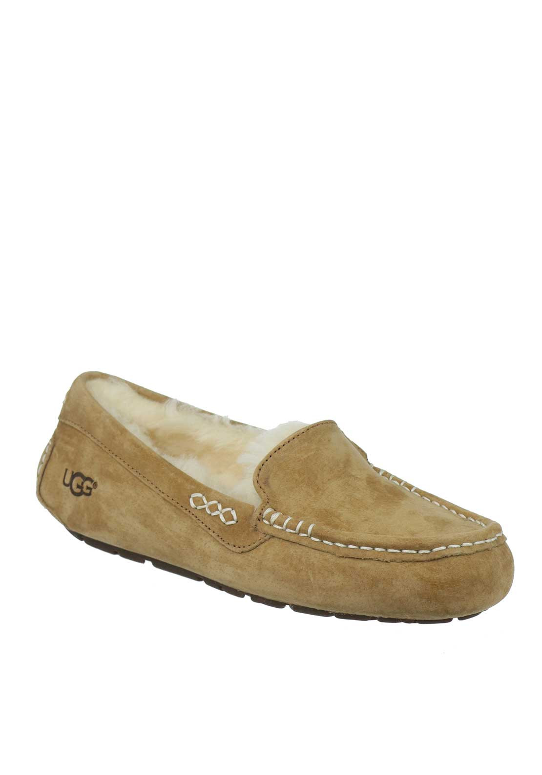 UGG Australia Womens Ansley Suede Slippers, Tan