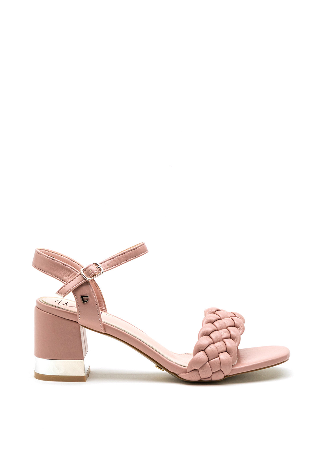 Una Healy Little Things Quilted Strap Block Heel Sandal, Pink