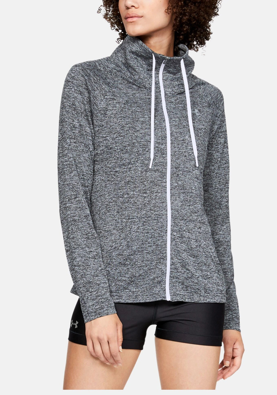 f0207774 Under Armour Womens UA Tech Twist Full Zip Top, Grey | McElhinneys