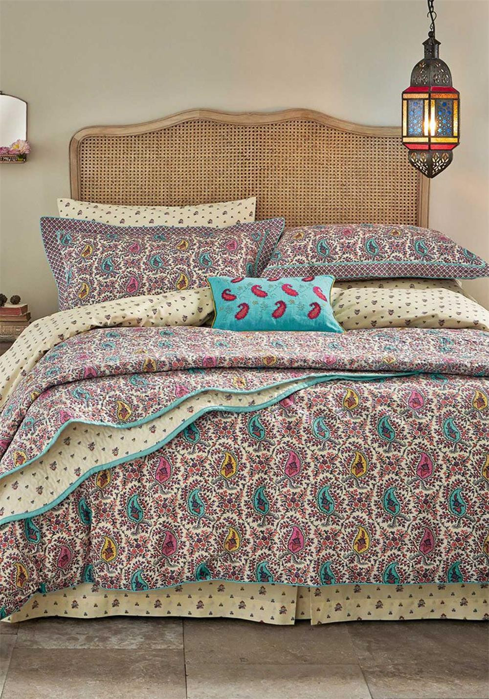V&A Kashmir Duvet Cover Set, Multi-Coloured